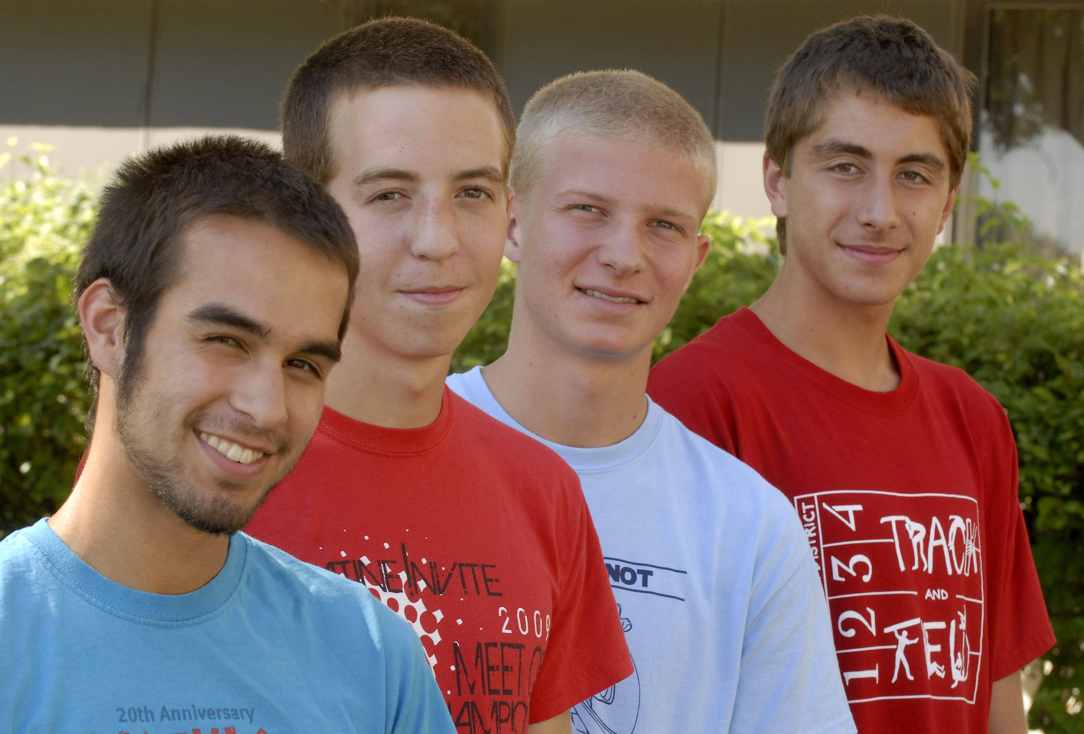 Palatine�s top runners include, from left, Marcus Garcia, Tim Johnson, Tim Meincke and Peter Tomkiewicz. The Pirates think they may have the best team in school history and are aiming for a state championship this fall.