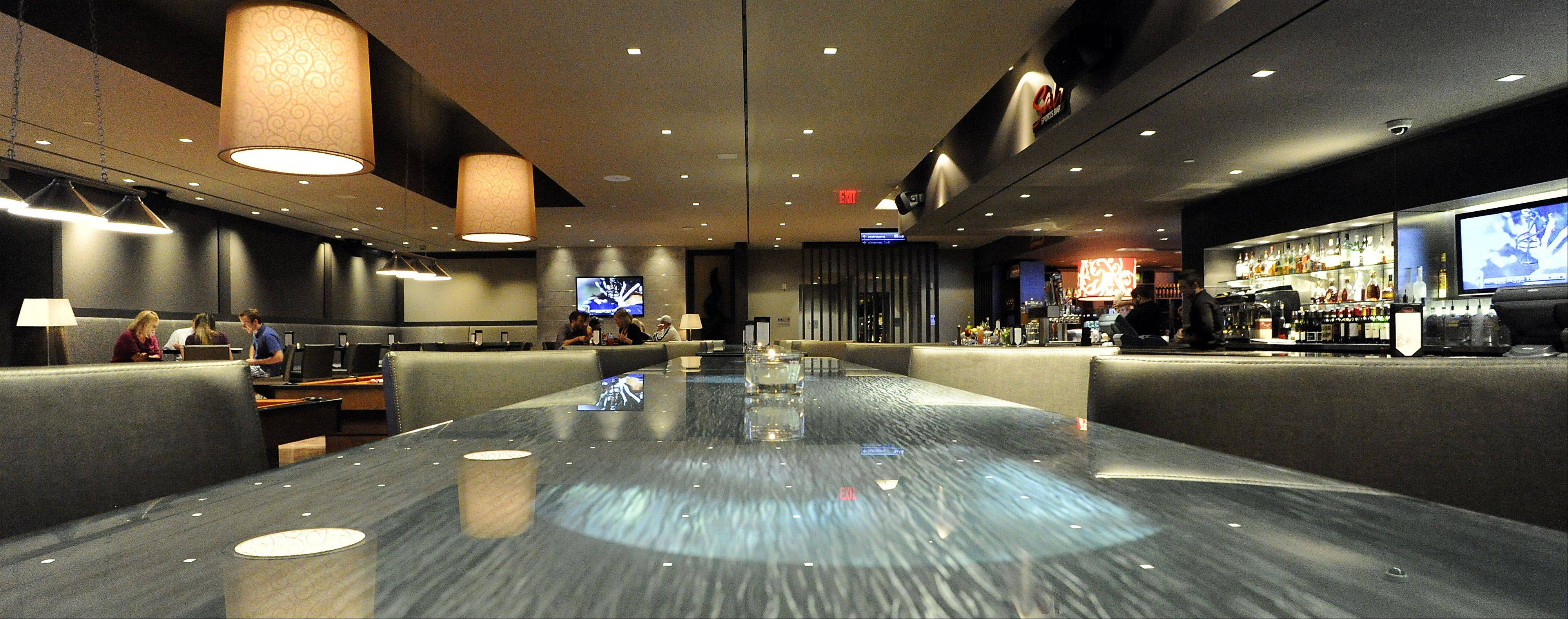 Salt Sports Bar provides a friendly destination for drinks, dinner and a movie, all in one location in South Barrington.