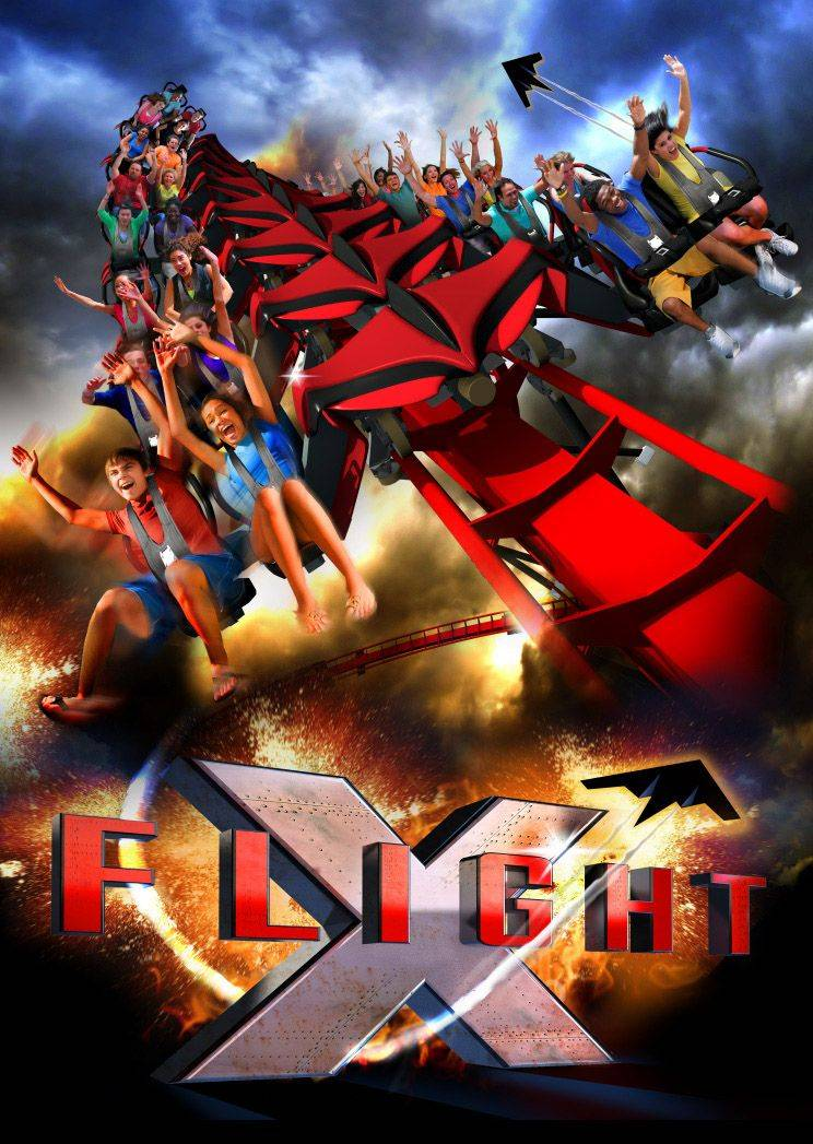 "Six Flags Great America in Gurnee plans to add a new, state-of-the-art roller coaster for the 2012 season. X-Flight is considered by the theme park as a groundbreaking ""wing coaster"" featuring cutting-edge technology."