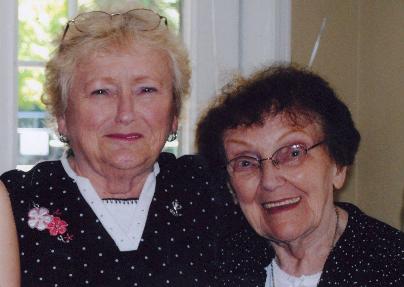 Margaret Simons, 72, and her mother Suzanne Thompson, 92, were killed by a suspected drunken driver hours after this photo was taken Sunday at a bridal shower they attended.