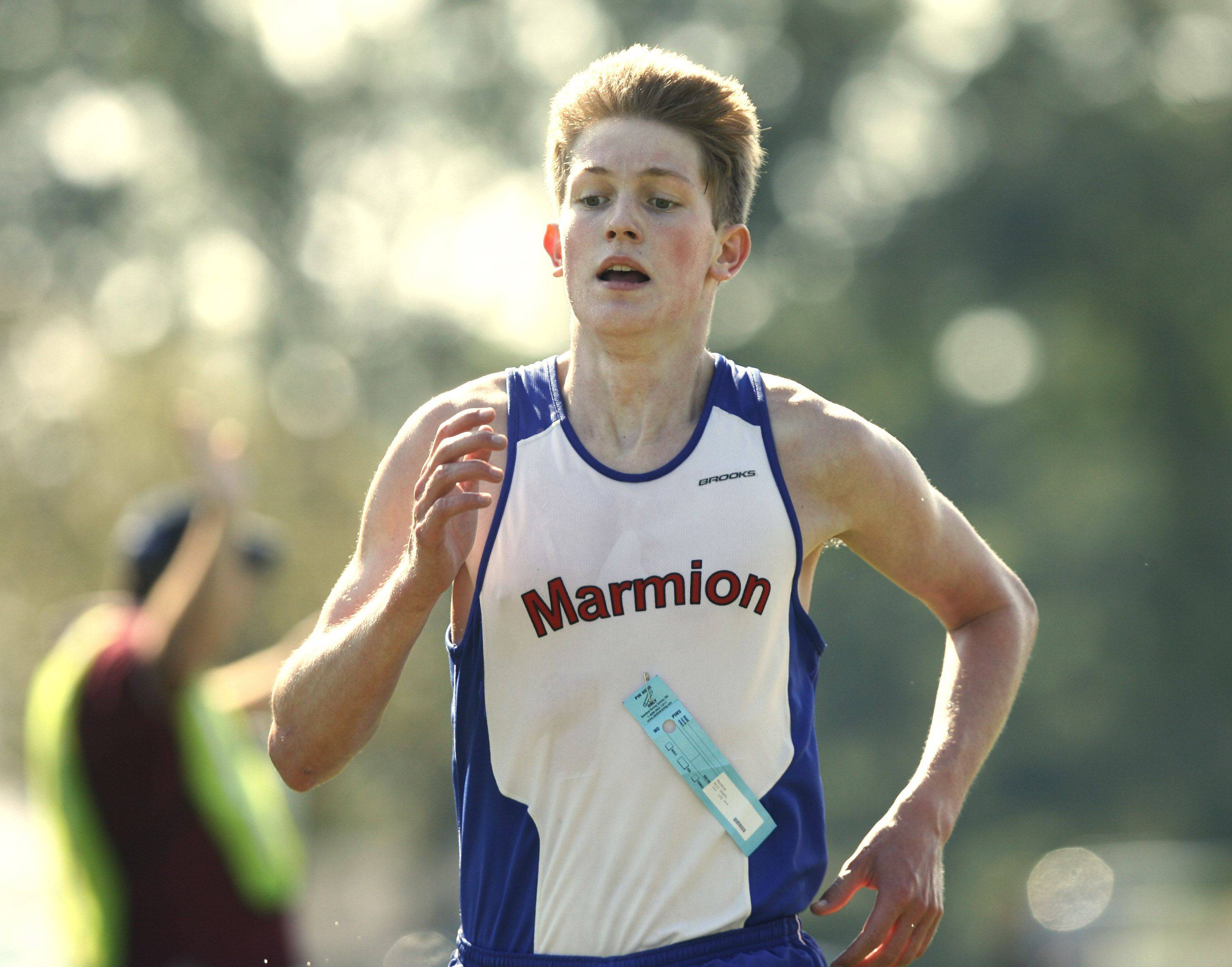 Marmion's Will Graft finished third at the season-opening Aurora City Meet last Saturday.