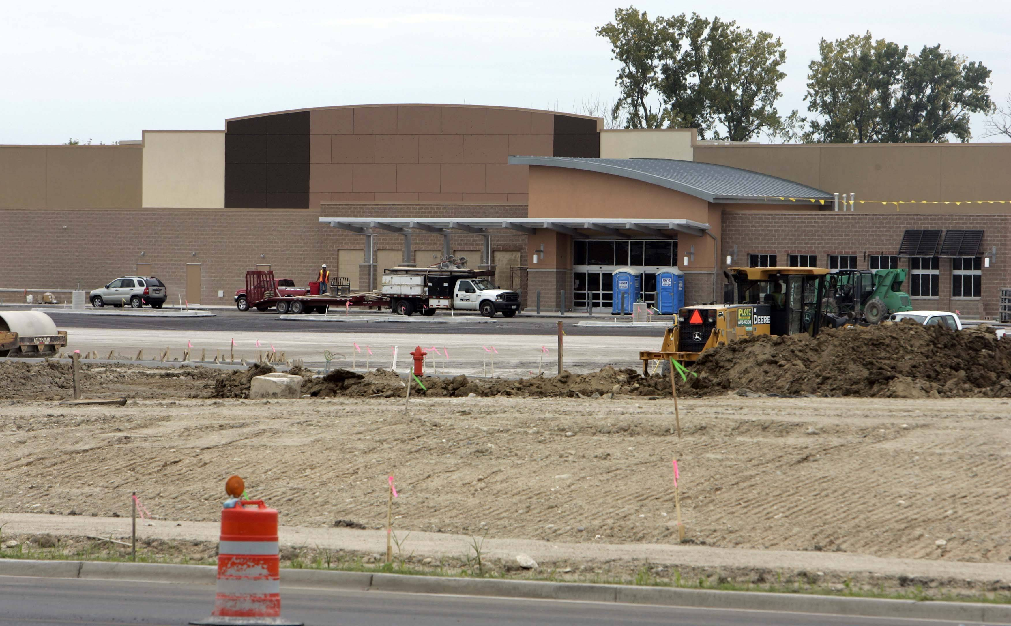 Walmart construction at Bowes and Randall Roads in Elgin continues. The new store is set to open Oct. 26.