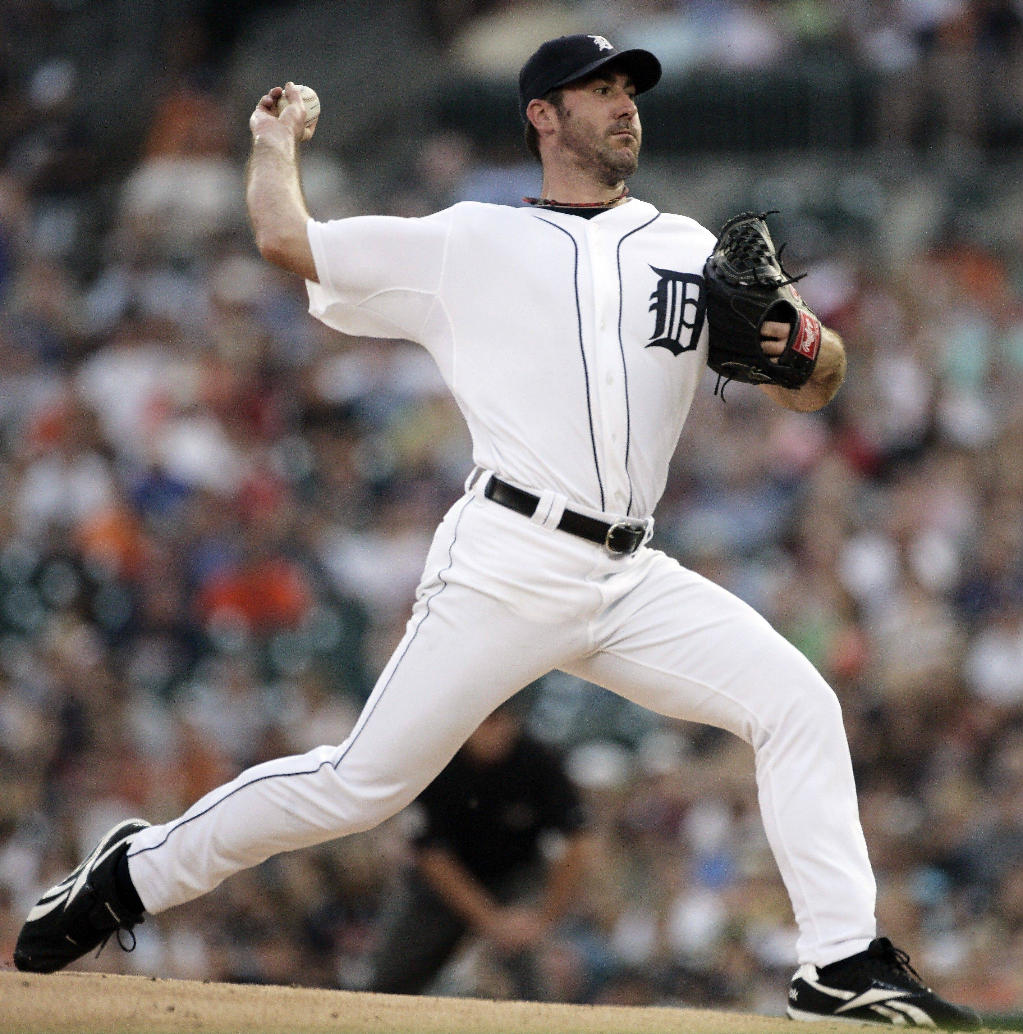Tigers starter Justin Verlander (21-5) mows down the White Sox on Friday night at Comerica Park in Detroit. Verlander, who allowed 1 run on 7 hits in 7⅓ innings, is 19-2 since May 1.