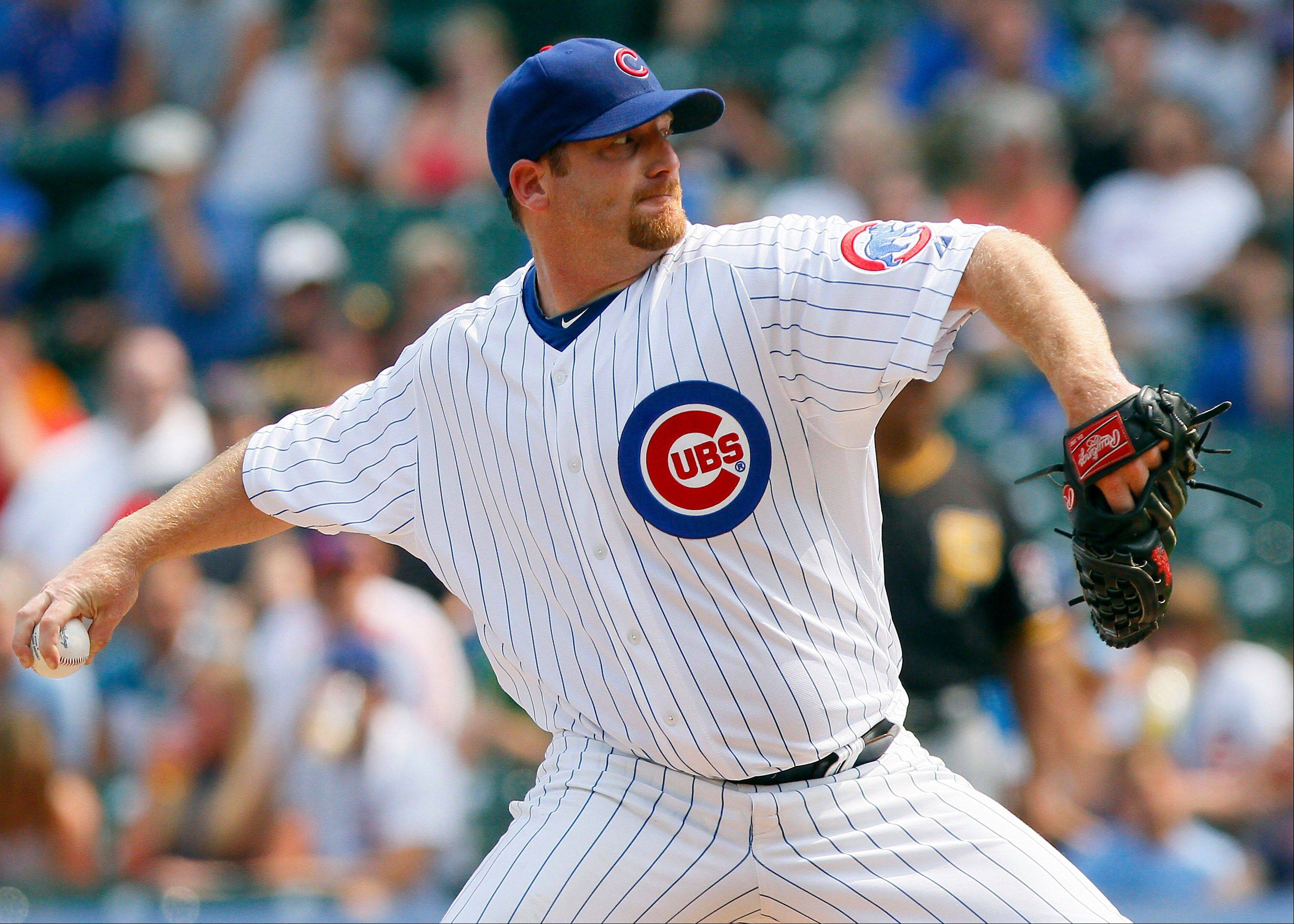 The Cubs� Ryan Dempster, who has worked at least 200 innings as a starter in each of the three seasons from 2008-10, needs to pitch just under 30 more innings to reach that threshold this campaign.