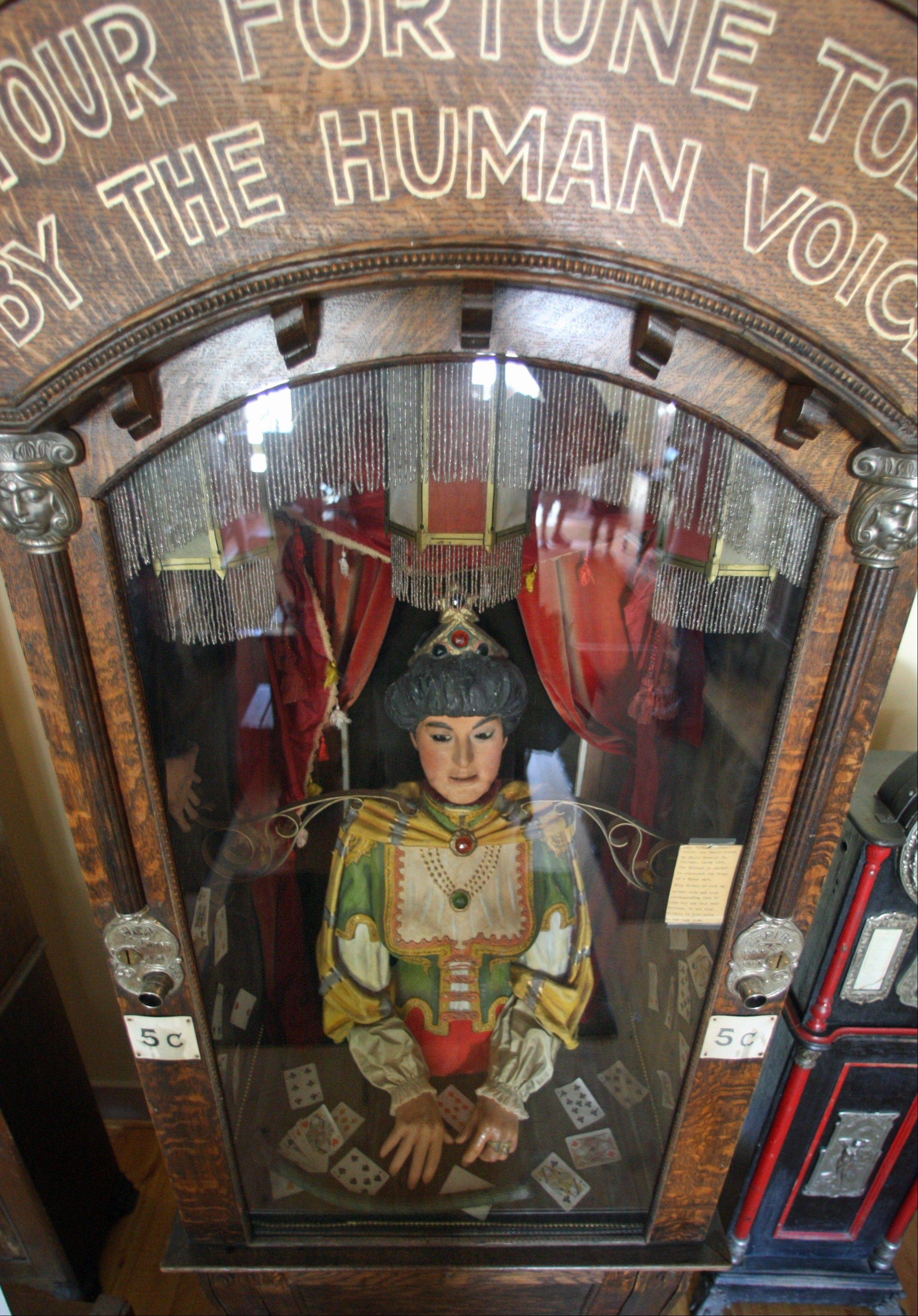 An antique Gypsy fortune teller machine sat for decades in this Virginia City, Mont., restaurant, which now is receiving a multimillion dollar offers from curators including magician David Copperfield. Collectors say the 100-year-old machine that speaks your fortune may be the last of its kind.