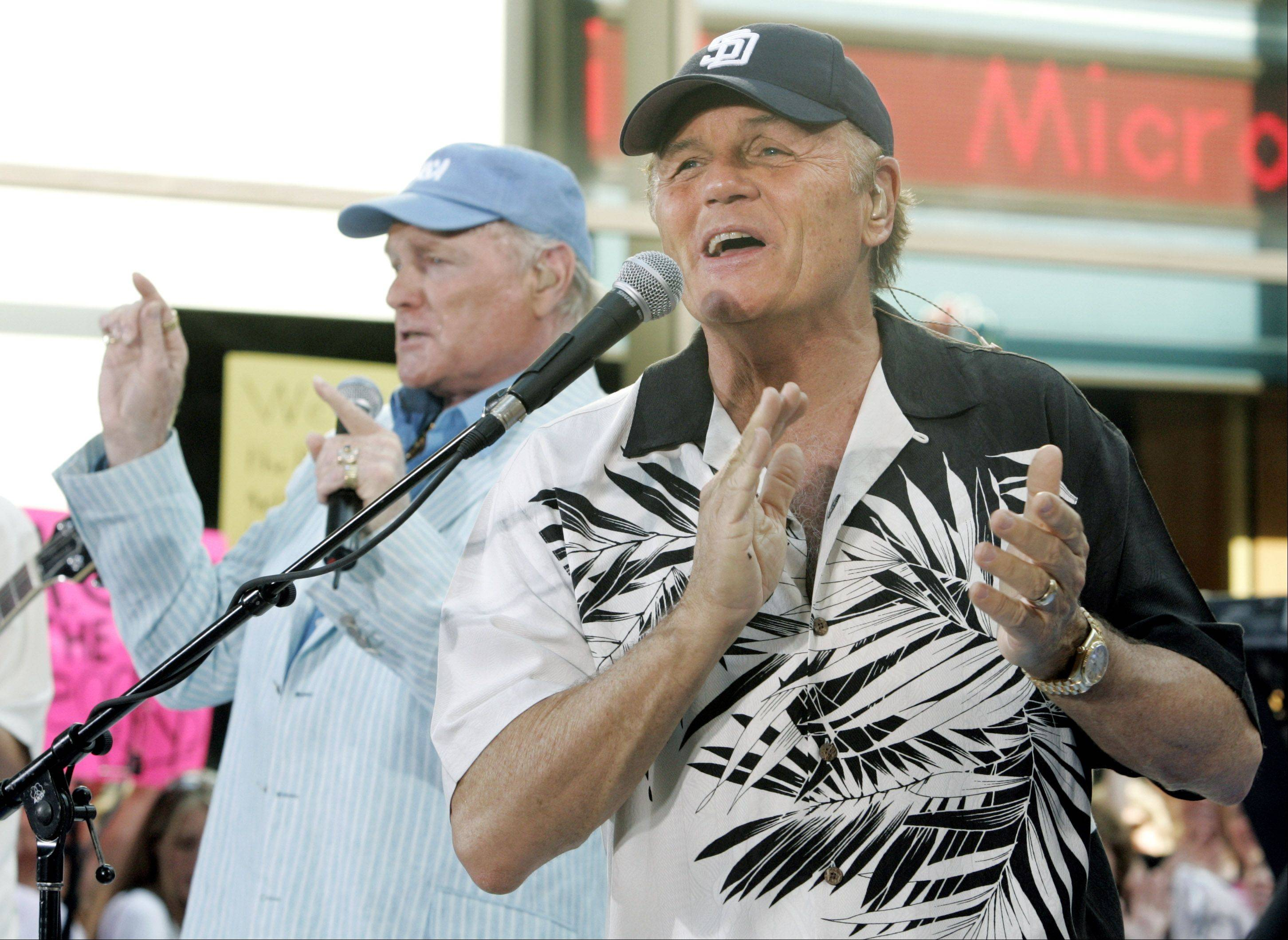 Mike Love, left, and Bruce Johnston of The Beach Boys will remind you of summer when they perform this October at North Central College�s Pfeiffer Hall.