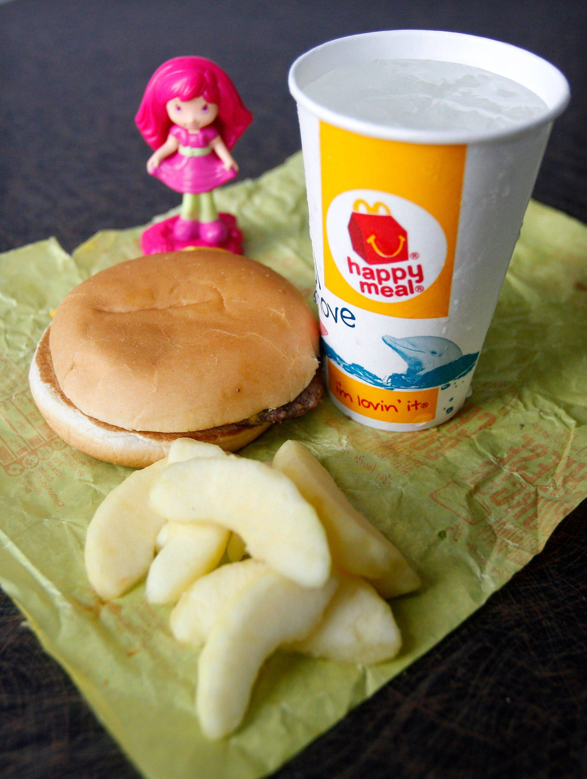 Now, apple slices are standard in McDonald's Happy Meals.