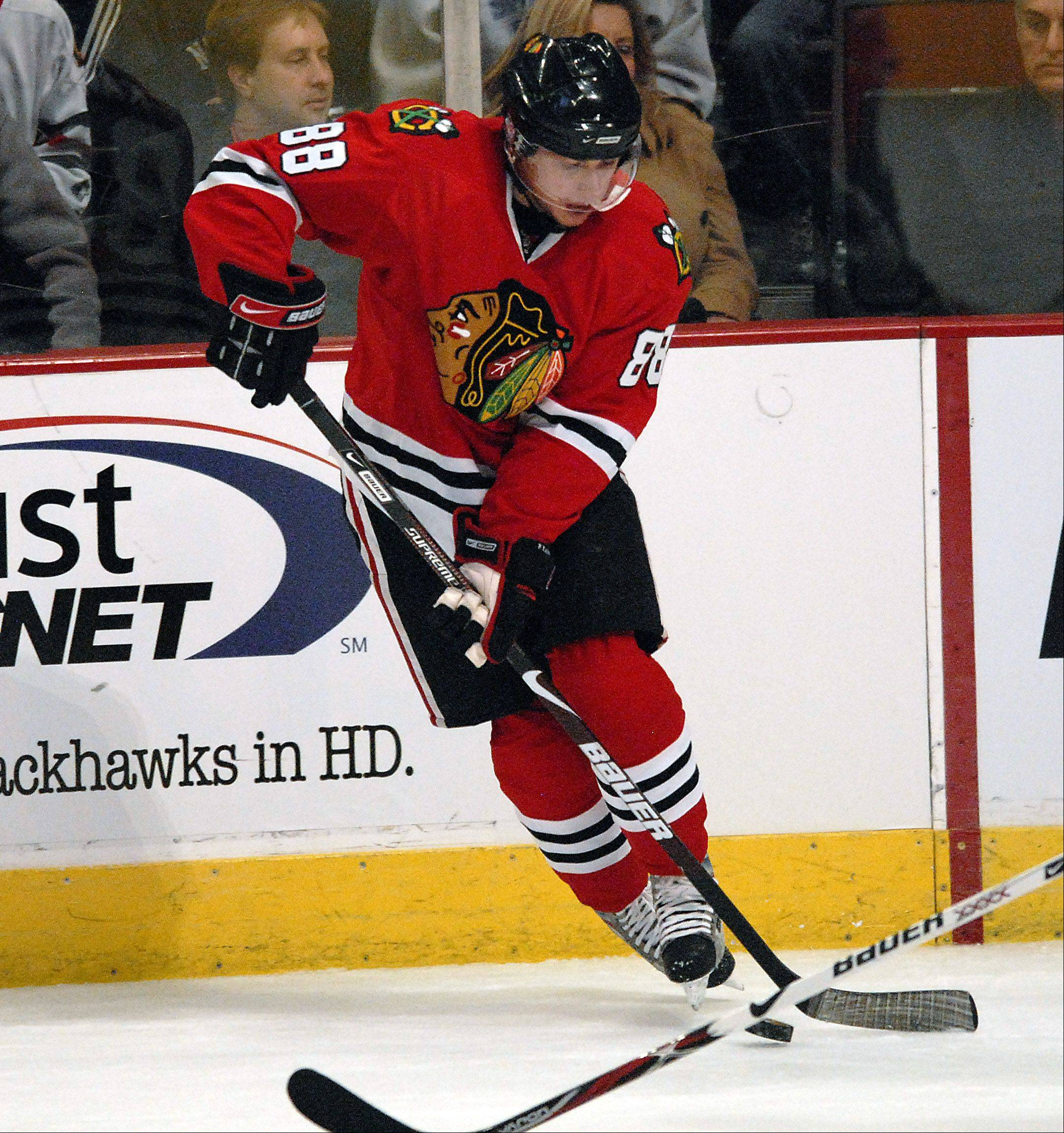 Patrick Kane, recovering from wrist surgery, believes he will be back before the end of the Blackhawks' preseason schedule.