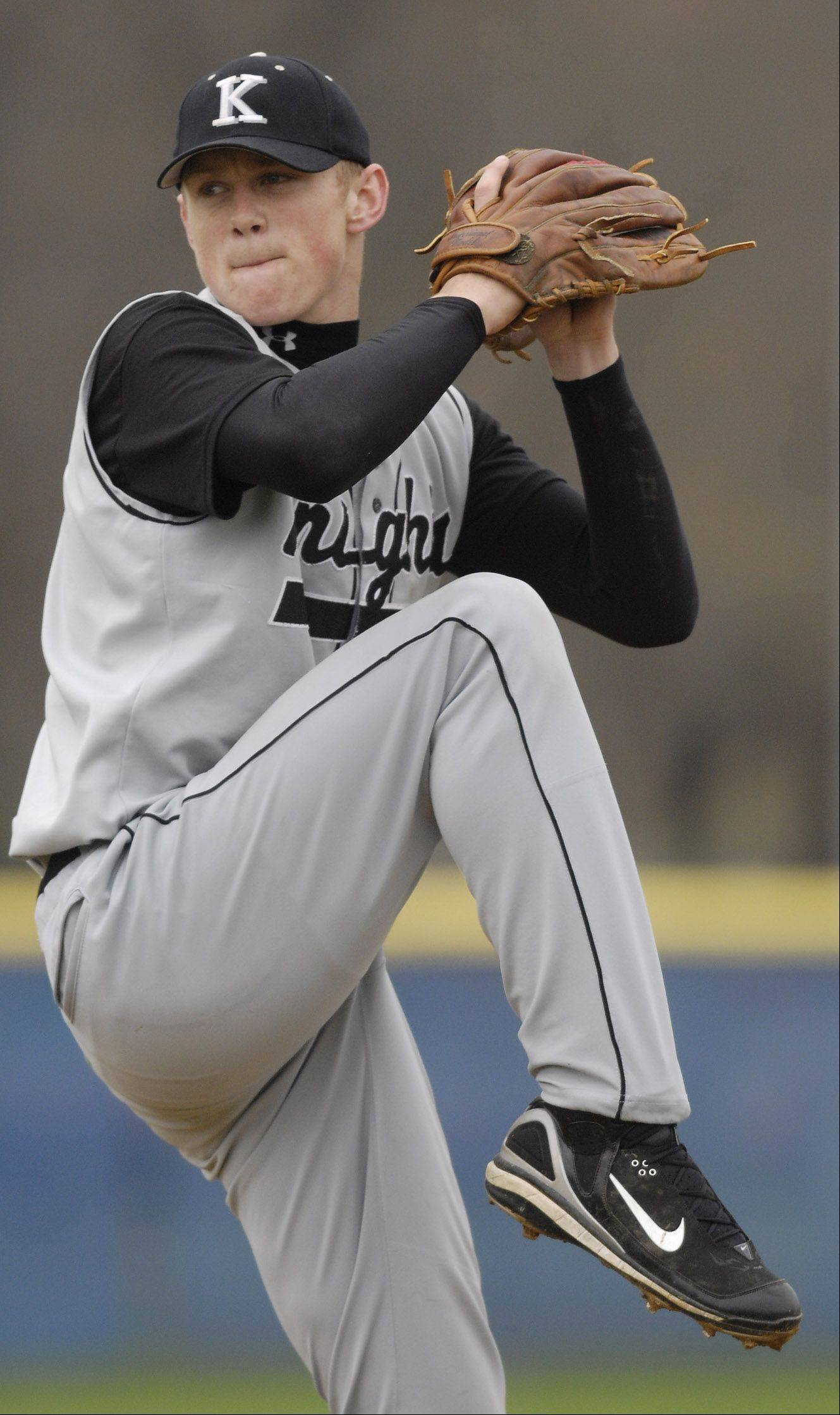 Casey Crosby, here pitching for Kaneland High School in 2007, is on the right track to the major leagues as a Detroit Tigers prospect.