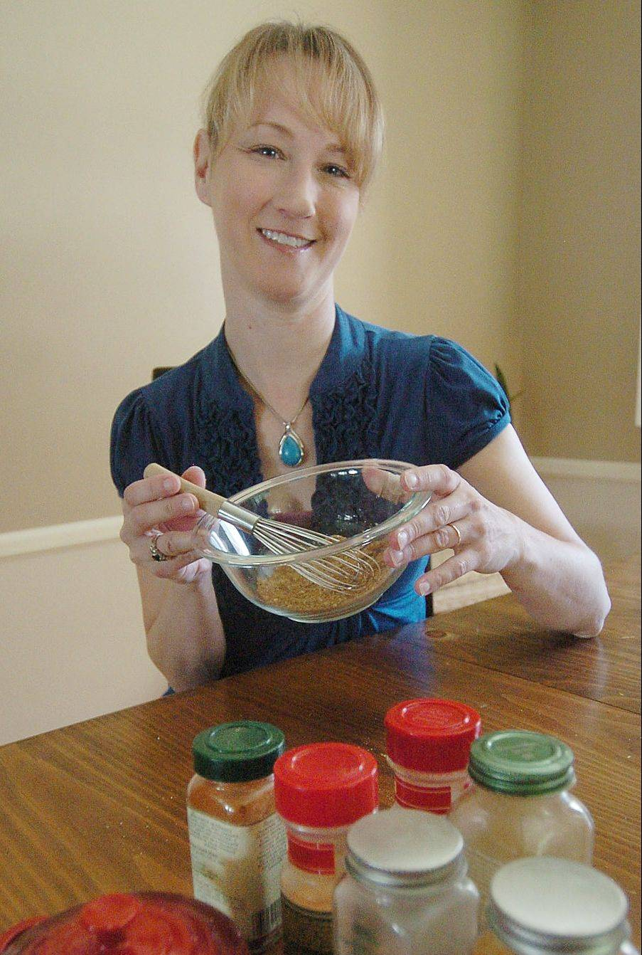 Cook of the Week Challenge contestant Ann Marie Nordby with her spice rub.
