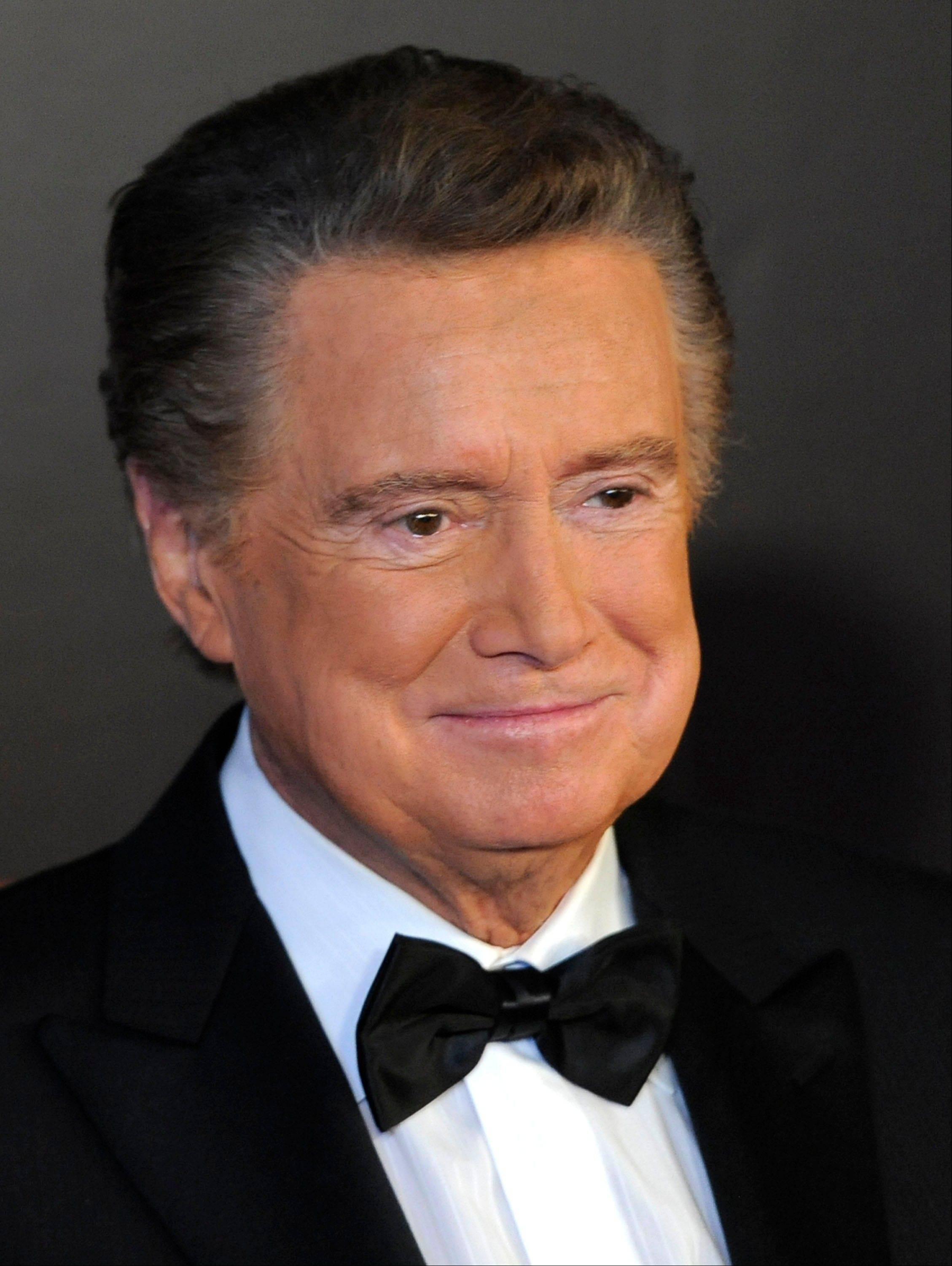Television host Regis Philbin says he'll retire from his talk show on Nov. 18.