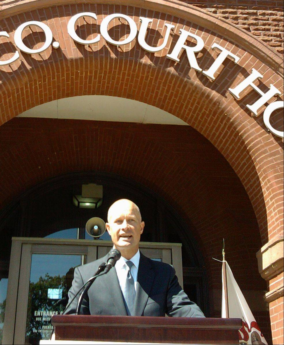 Kane County State�s Attorney Joe McMahon on Tuesday morning announces his bid for a 4-year term.