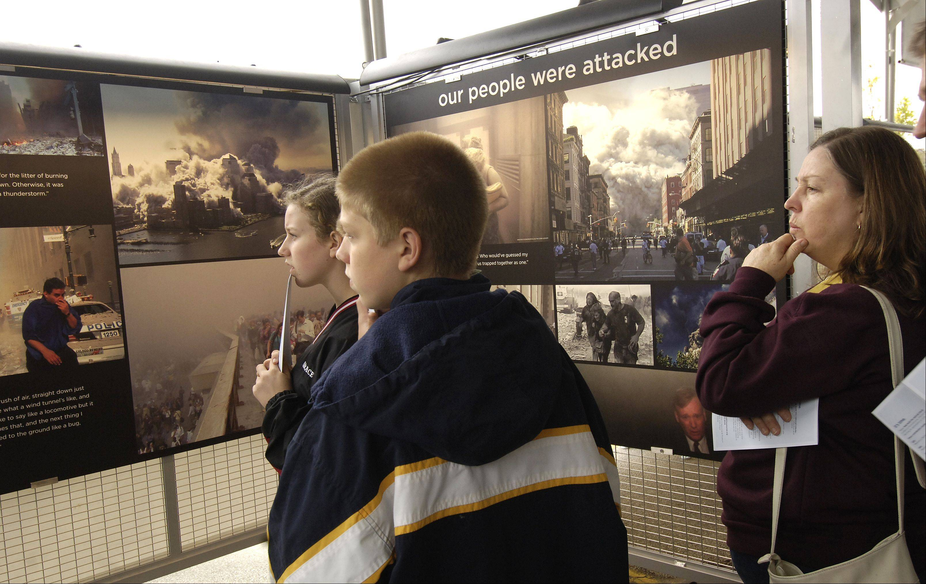 An exhibit showing photos of the World Trade Center immediately following the Sept. 11 terrorist attacks of 2001 can be viewed at the Aurora Regional Fire Museum, 53 N. Broadway St., following Aurora�s 10th anniversary remembrance ceremony at 10 a.m. Friday, Sept. 9.