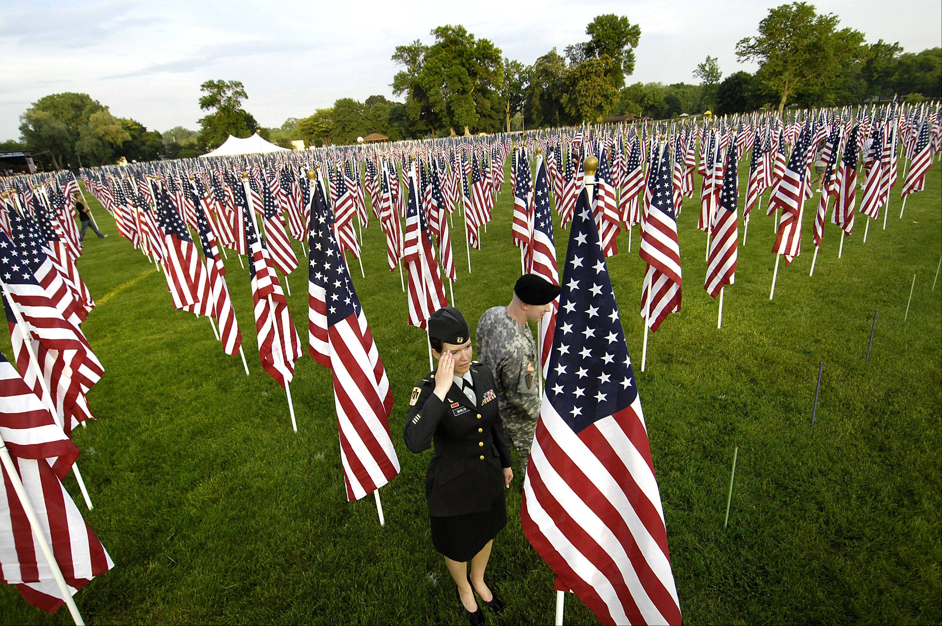 A Healing Field event will take place today through Sunday, Sept. 11, in Carpenter Park, Carpentersville, to honor those who lost their lives in the Sept. 11, 2001 attacks.