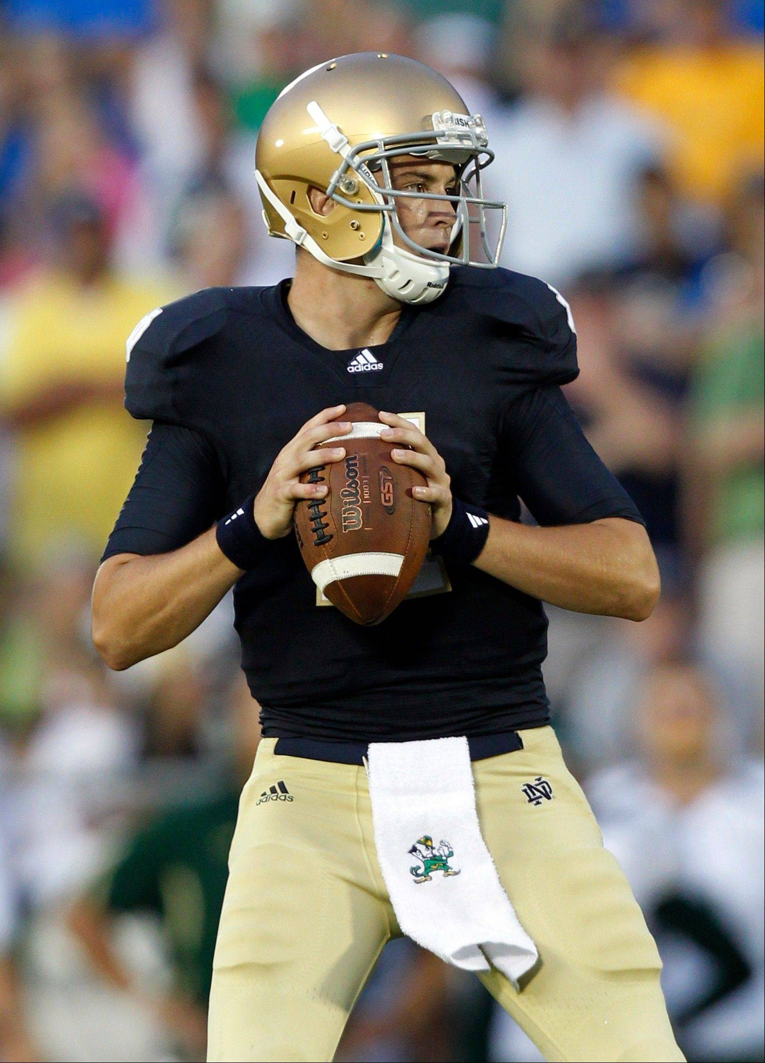 Notre Dame quarterback Tommy Rees will be the starting quarterback Saturday night against Michigan.