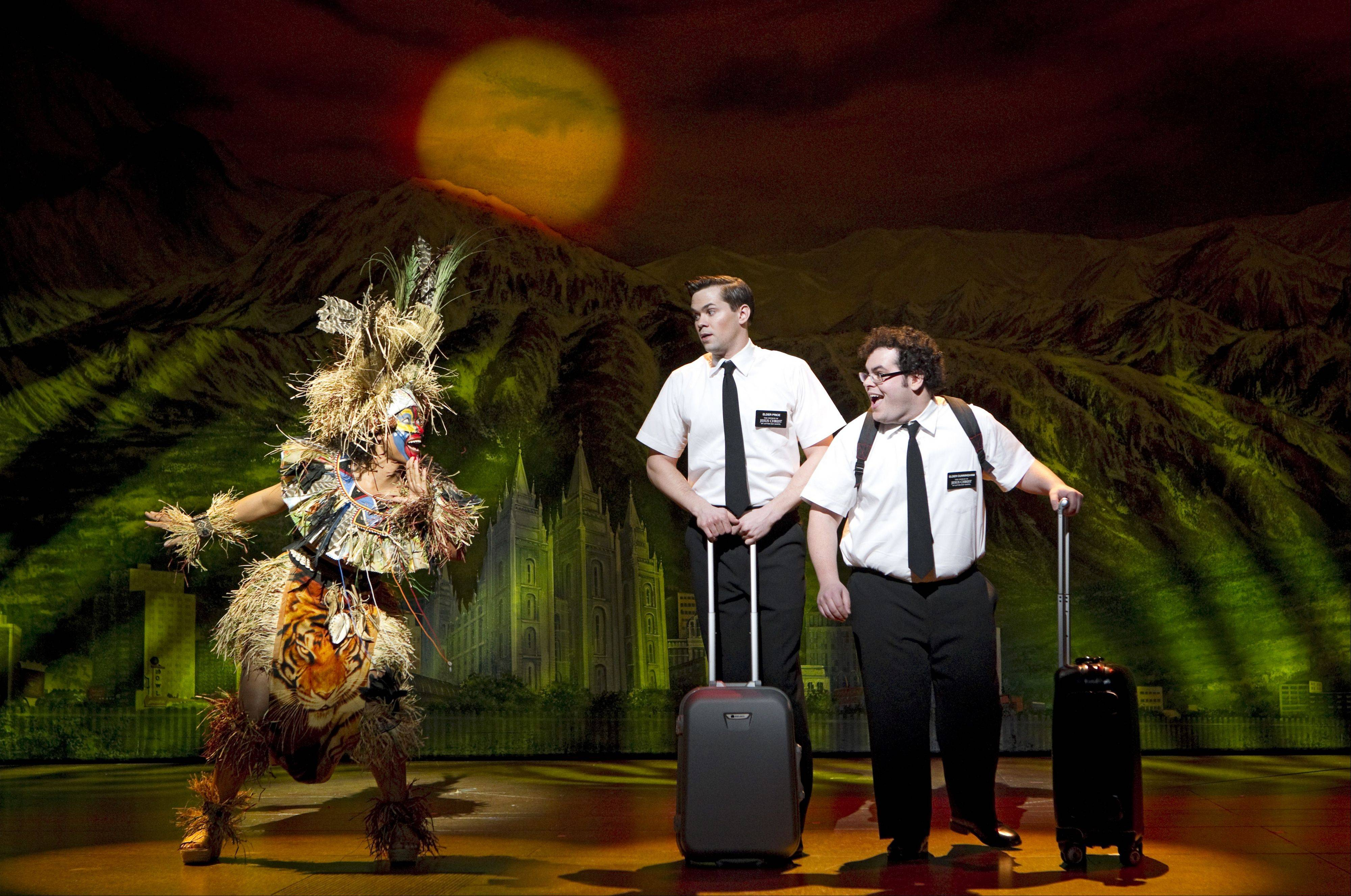 "Rema Webb, Andrew Rannells and Josh Gad appear in the Broadway company of ""The Book of Mormon."" The smash-hit musical is set to play a 12-week engagement at Chicago's Bank of America Theatre in December 2012."