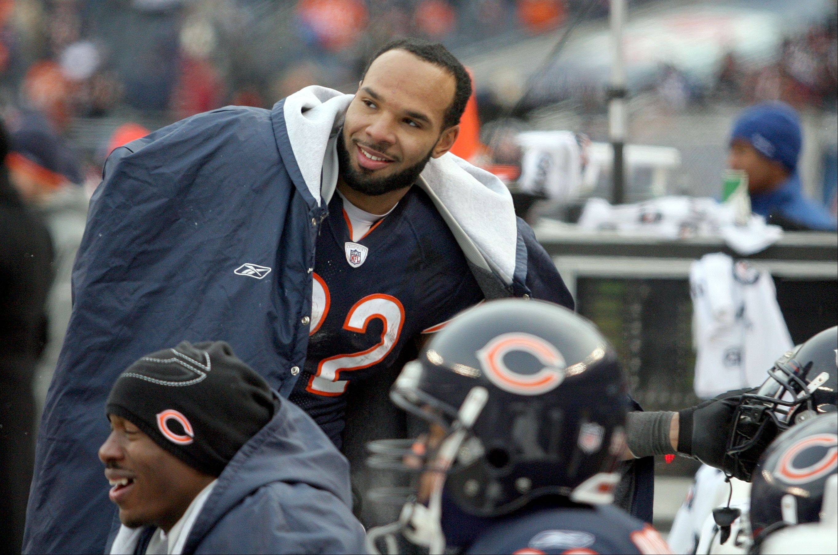 Bears running back Matt Forte was all smiles on the sidelines during the Bears' playoff win against Seattle last season, but he's not happy now that talks over a contract extension have been put on hold.