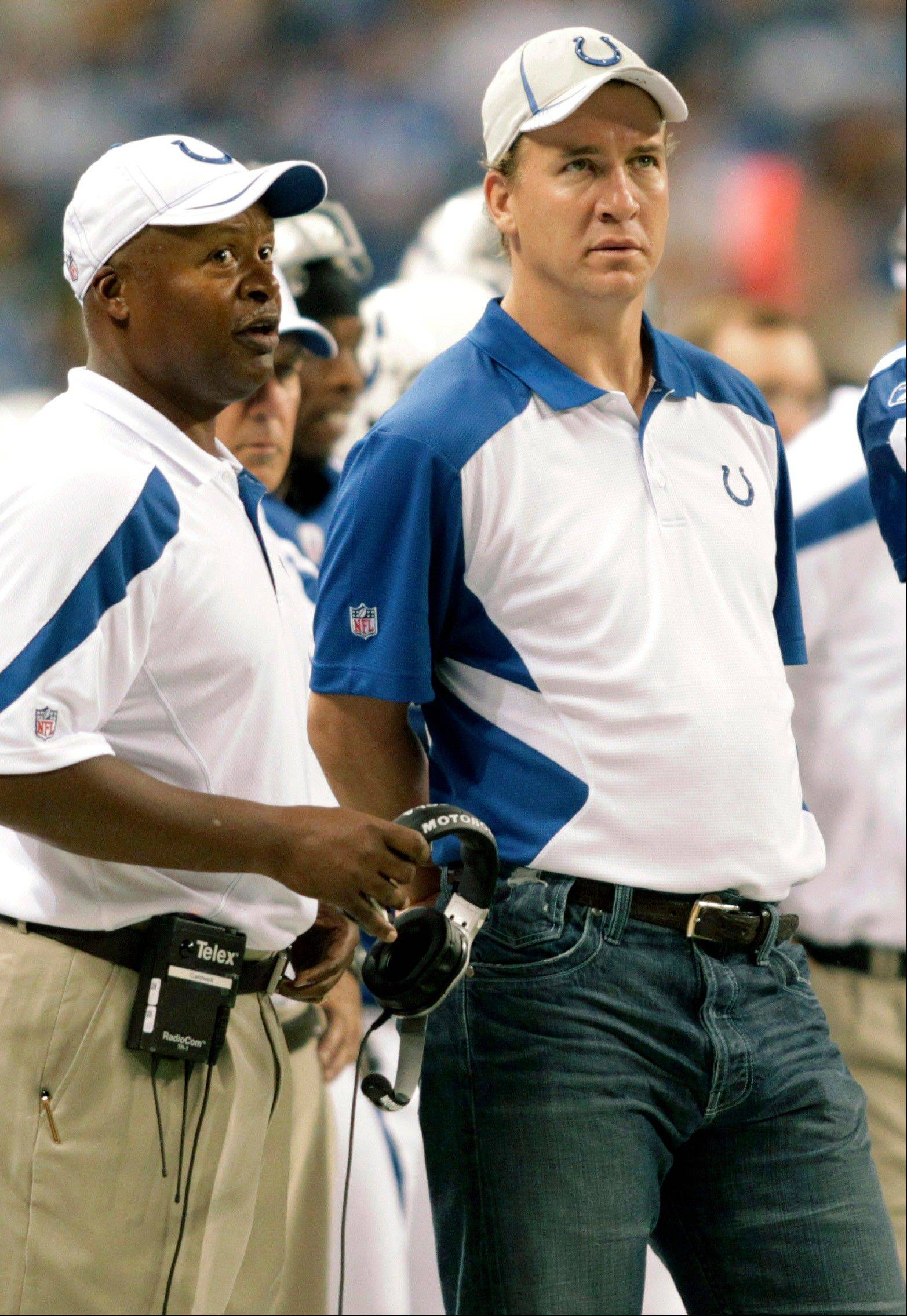 Indianapolis Colts quarterback Peyton Manning will not play Sunday in the season opener at Houston, bringing an end to his streak of 227 consecutive starts, including the playoffs. The team said 38-year-old Kerry Collins will start against the Texans as Manning continues his long recovery from neck surgery in May.