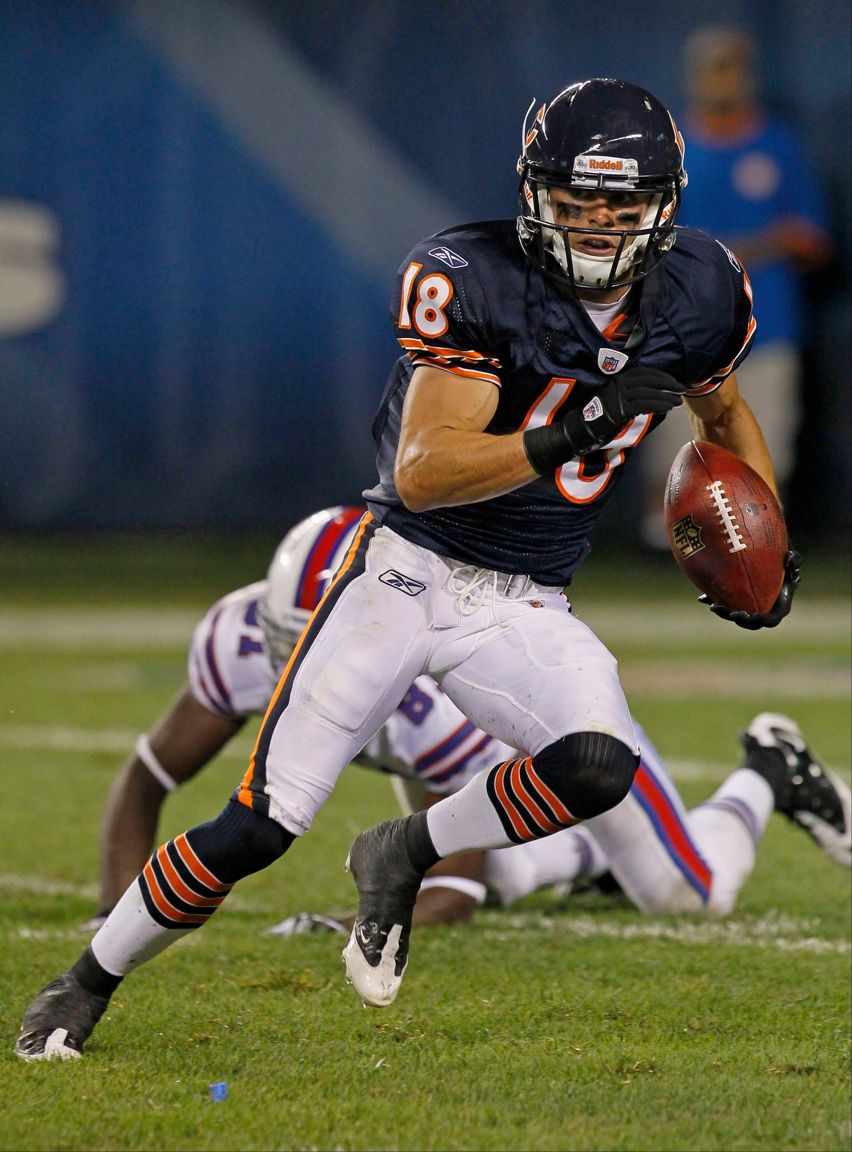 Undrafted rookie Dane Sanzenbacher made the roster as one of the Bears' six wide receivers.