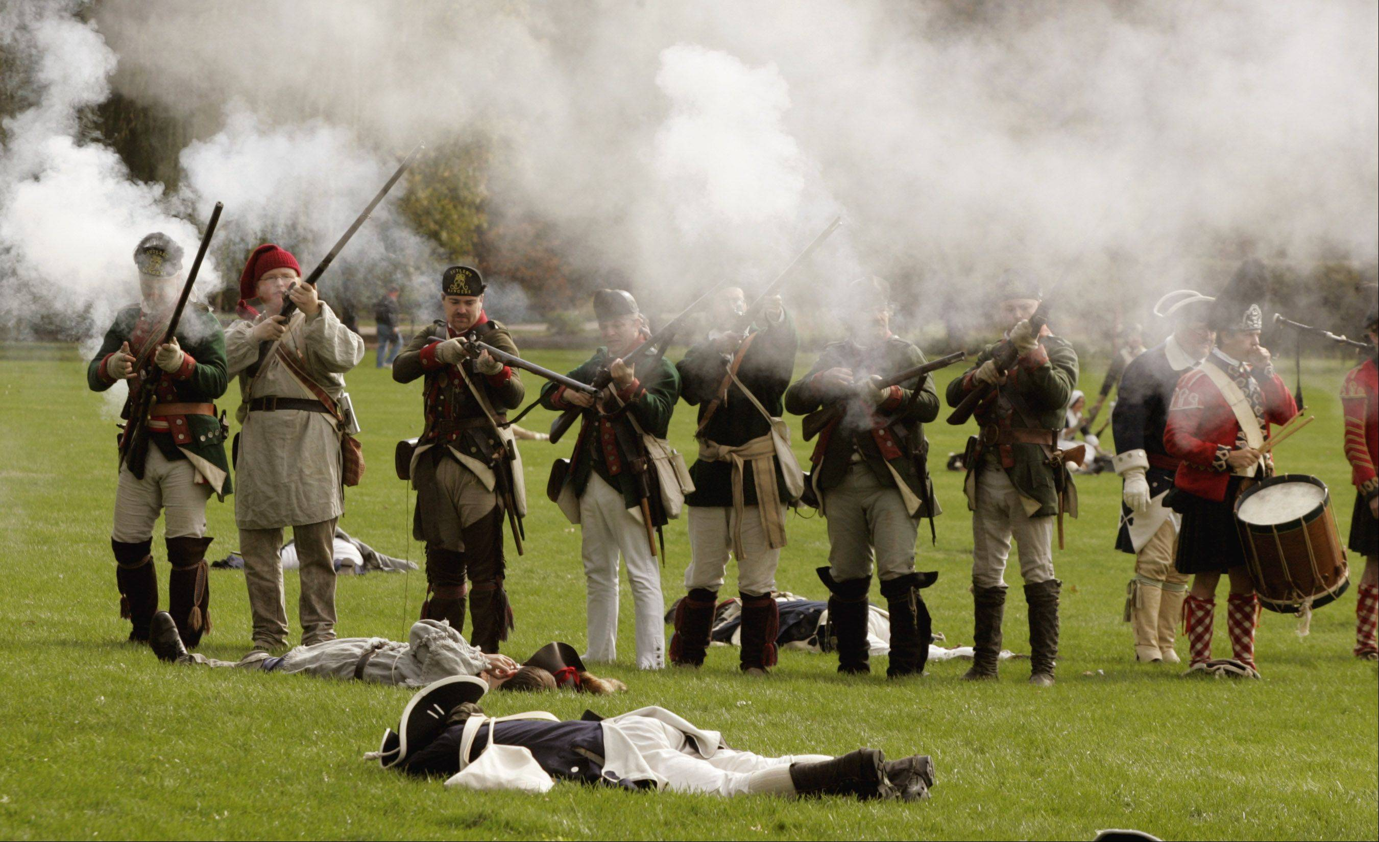 The battles are some of the most popular parts of the Revolutionary War Re-enactment that takes place this weekend at Cantigny Park in Wheaton.