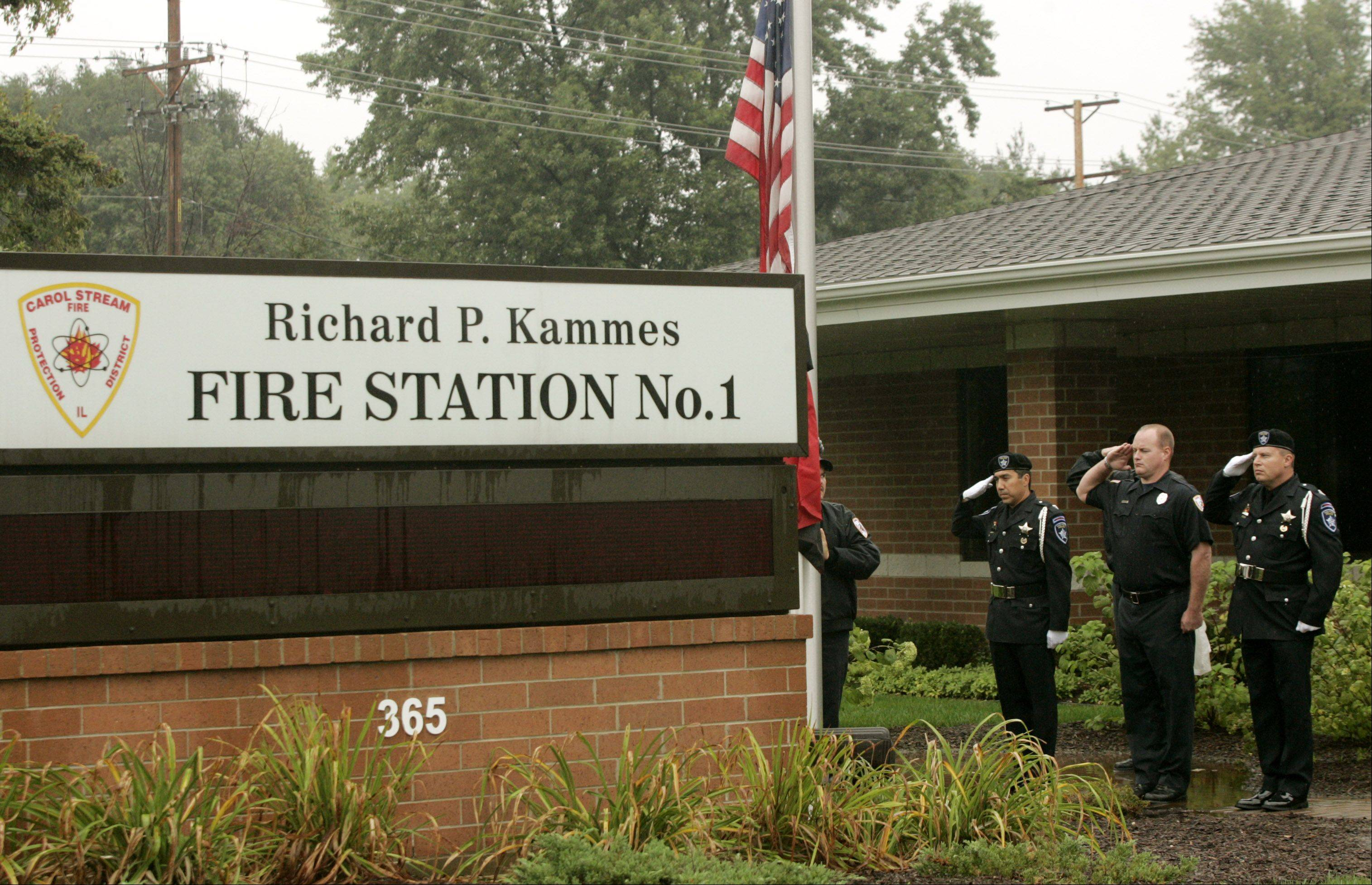 The Carol Stream Fire Protection District headquarters on Kuhn Road will be home to a new memorial dedicated to the victims of Sept. 11 and first responders who responded that day.