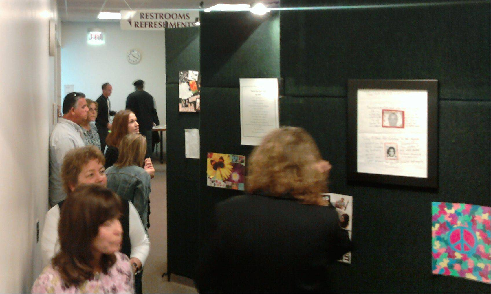 The Kane County Drug Rehabilitation Court's first Fine Art and Written Word Extravaganza featured more than 80 paintings and collages and nearly 100 essays and poems about overcoming addiction. It was held Wednesday at the judicial center in St. Charles.