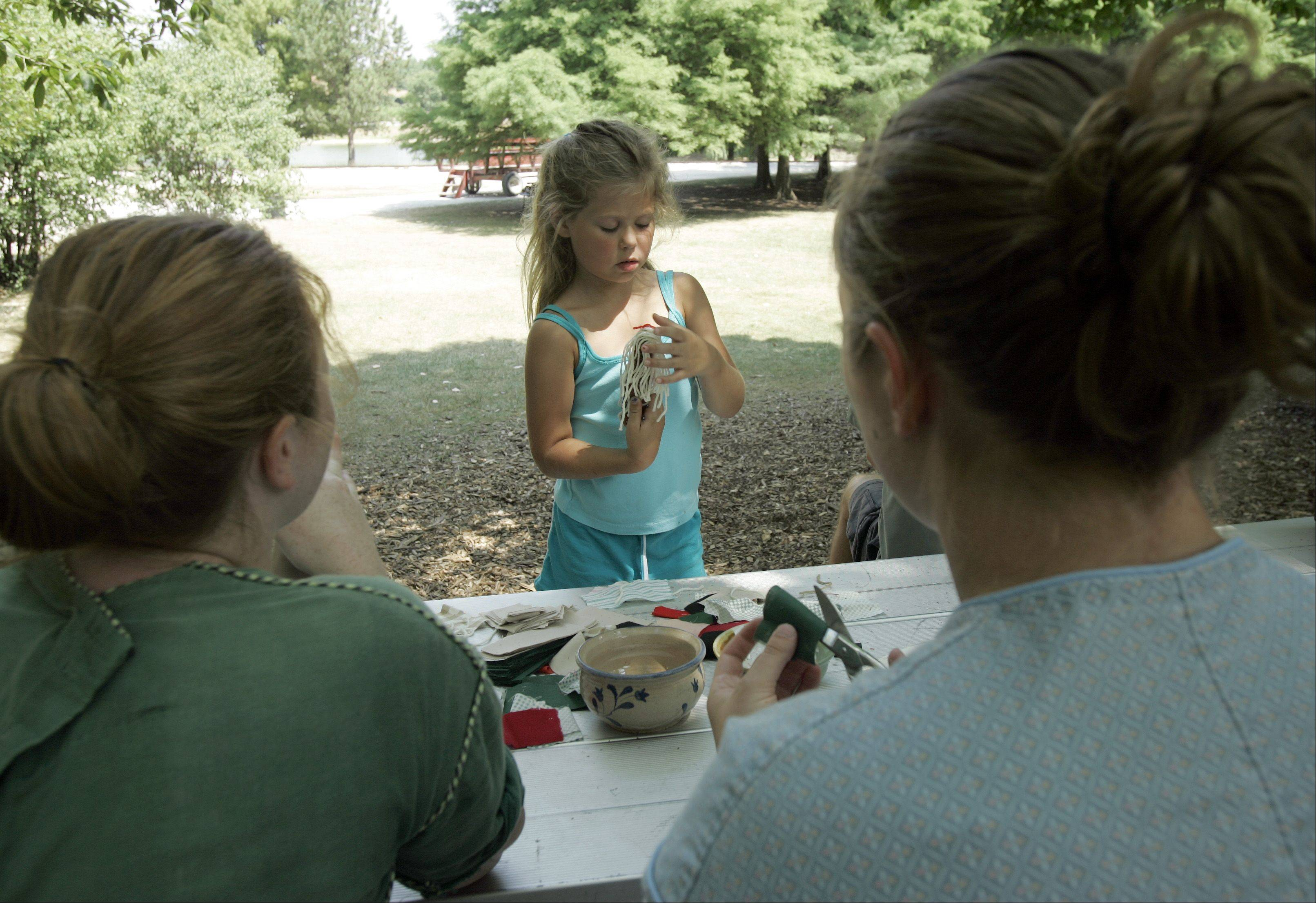 Kids can make corn cob dolls during Blackberry Farm's Fall Harvest, which aims to take visitors back to the 1840s from noon to 4 p.m. Sunday, Sept. 11.