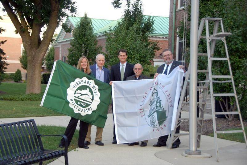 Glenbard West flag flying proudly -- in Wheaton?