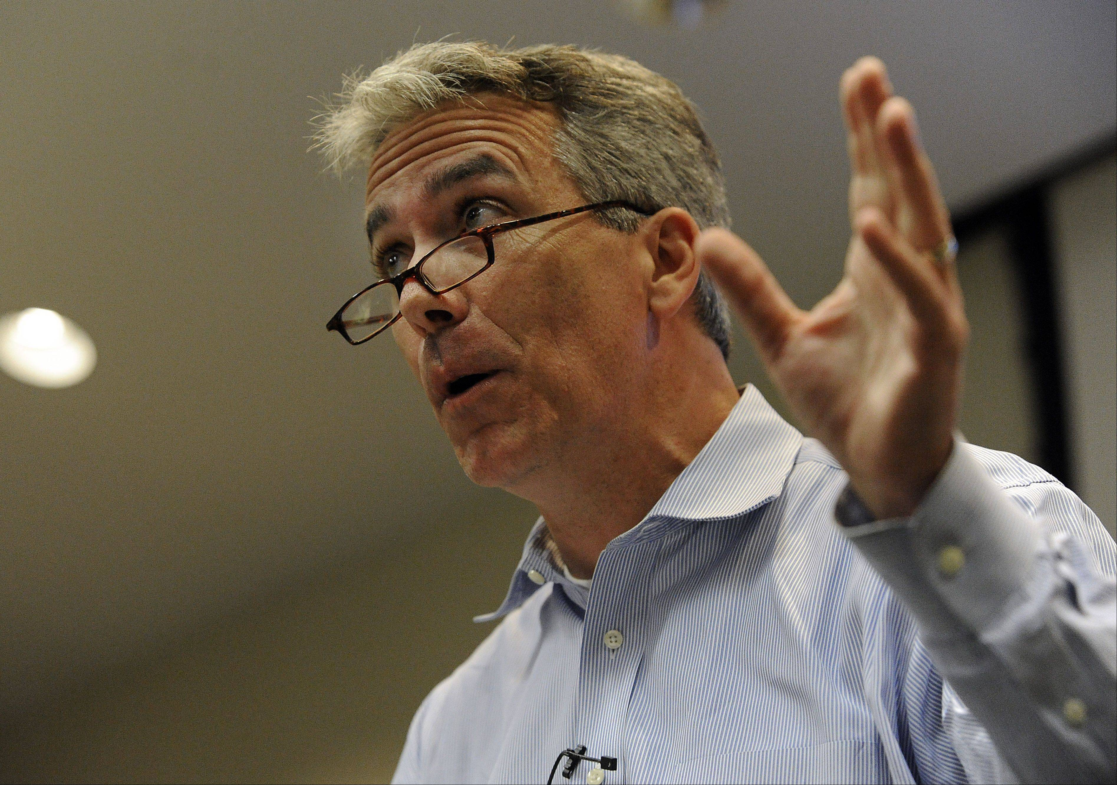 U.S. Rep. Joe Walsh makes speaks at a small-business forum at the Schaumburg Prairie Center for the Arts on Thursday.