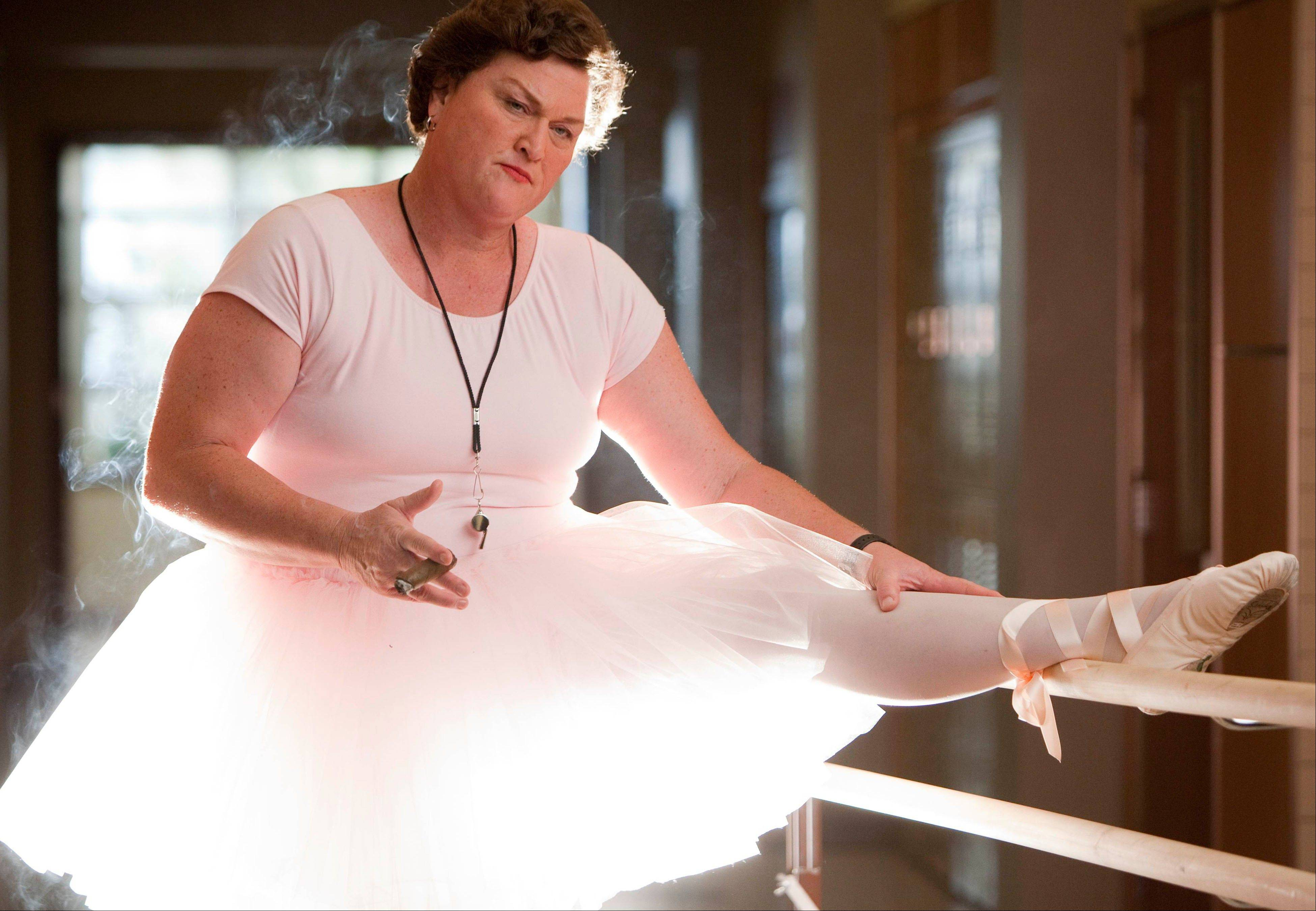 "Dot-Marie Jones is shown in a scene from the ""Never Been Kissed,"" episode of ""Glee."" Jones is nominated for a Creative Arts Emmy Award for her portrayal of Coach Shannon Beiste."