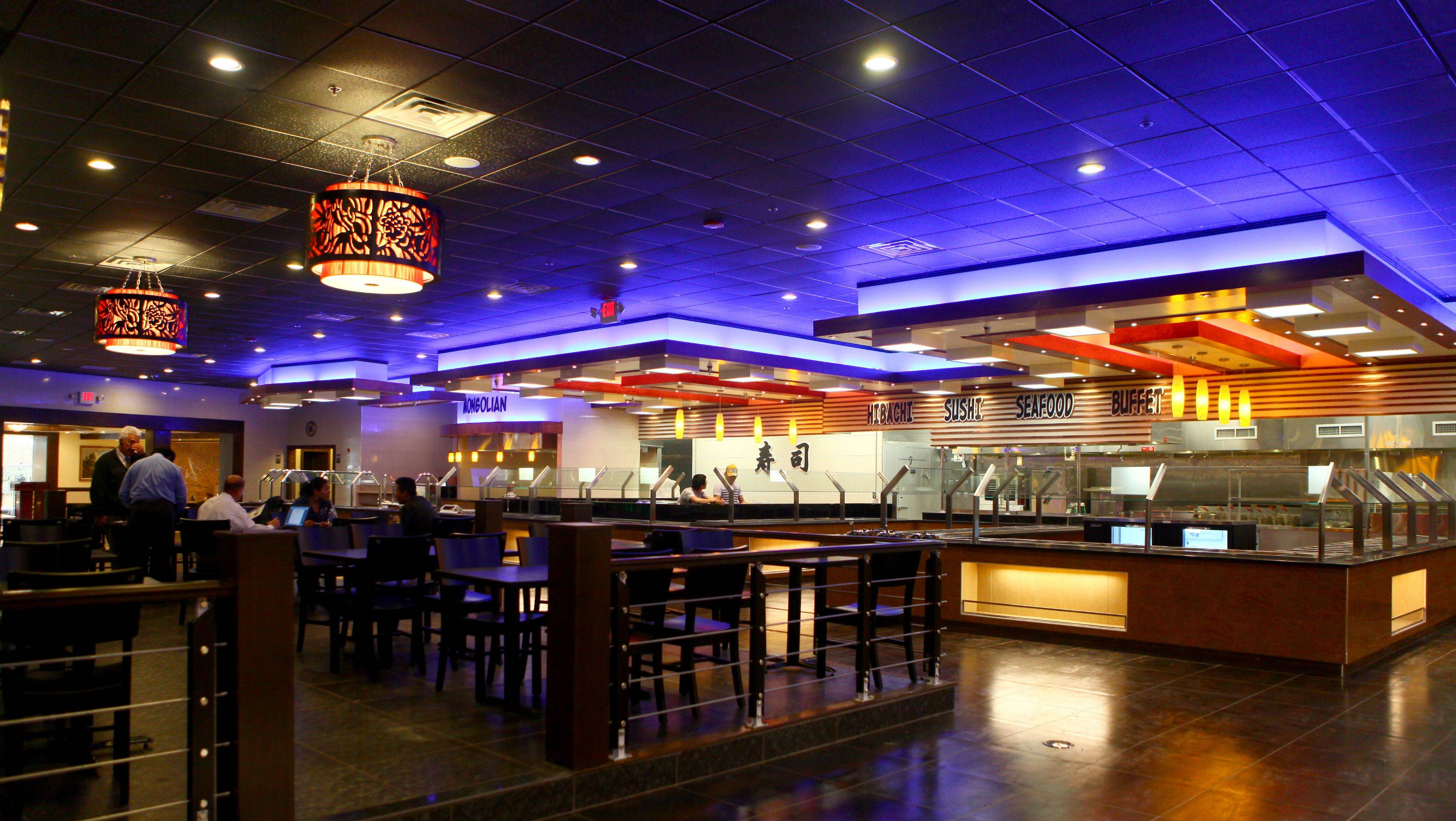 This is the main dining room at Royal Japanese Seafood Buffet, a new Japanese restaurant offering hibachi, sushi and a buffet in the Golf Center shopping complex in Hoffman Estates.
