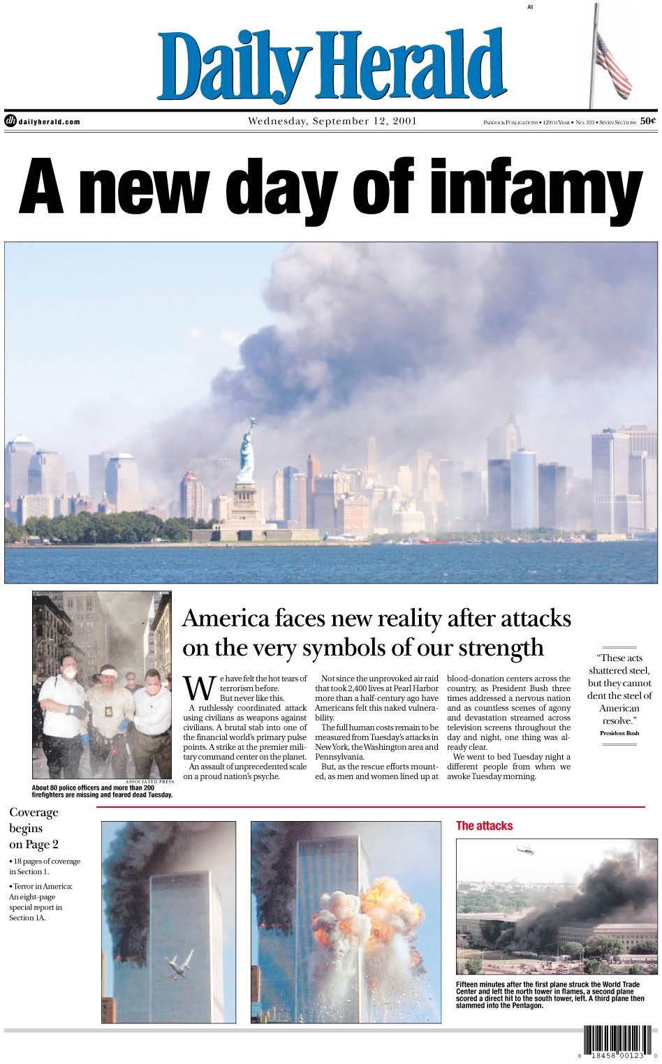 Images: Sept. 11, 2001 newspaper fronts
