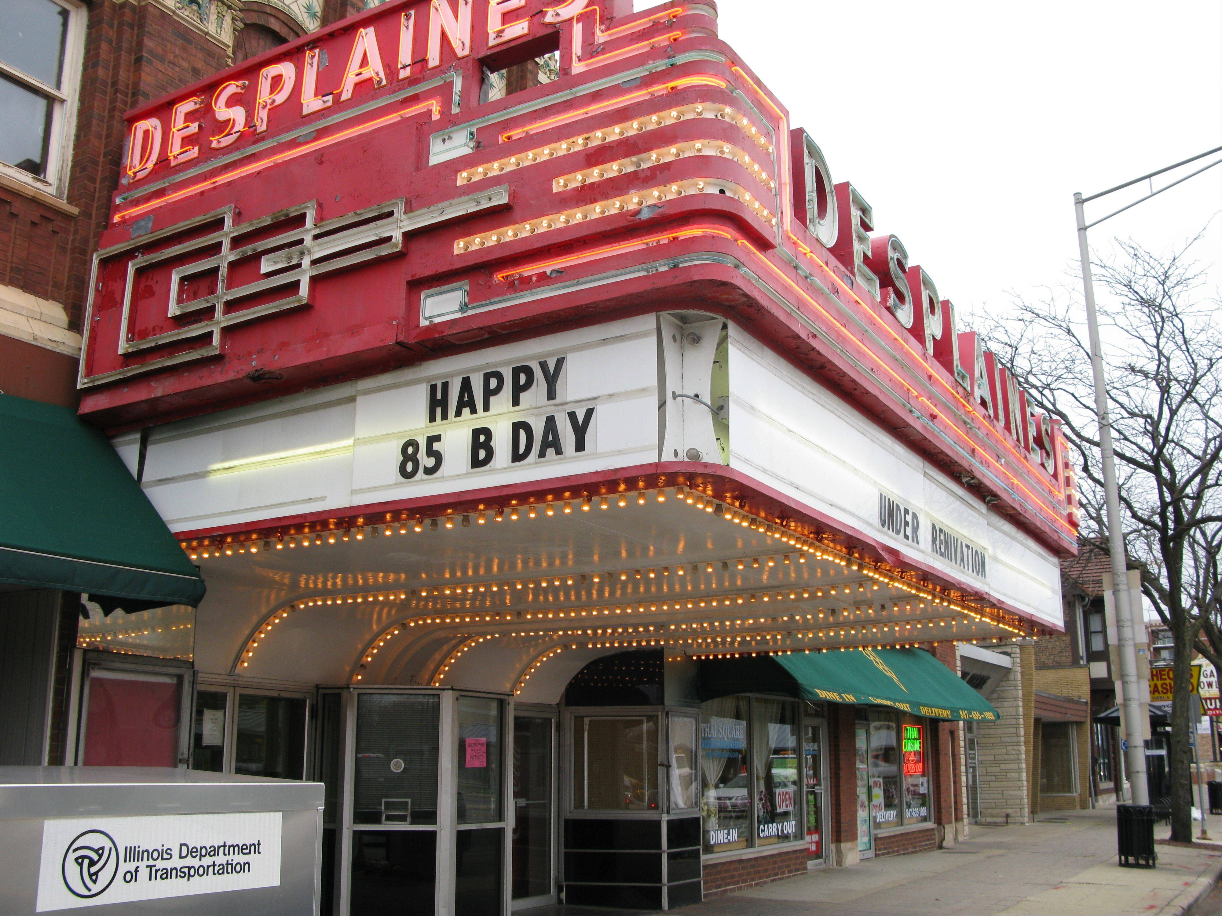 Owners of the historic downtown Des Plaines Theater received roughly $15,000 in grants this year from the city's facade rehabilitation program to help with the theater's restoration.