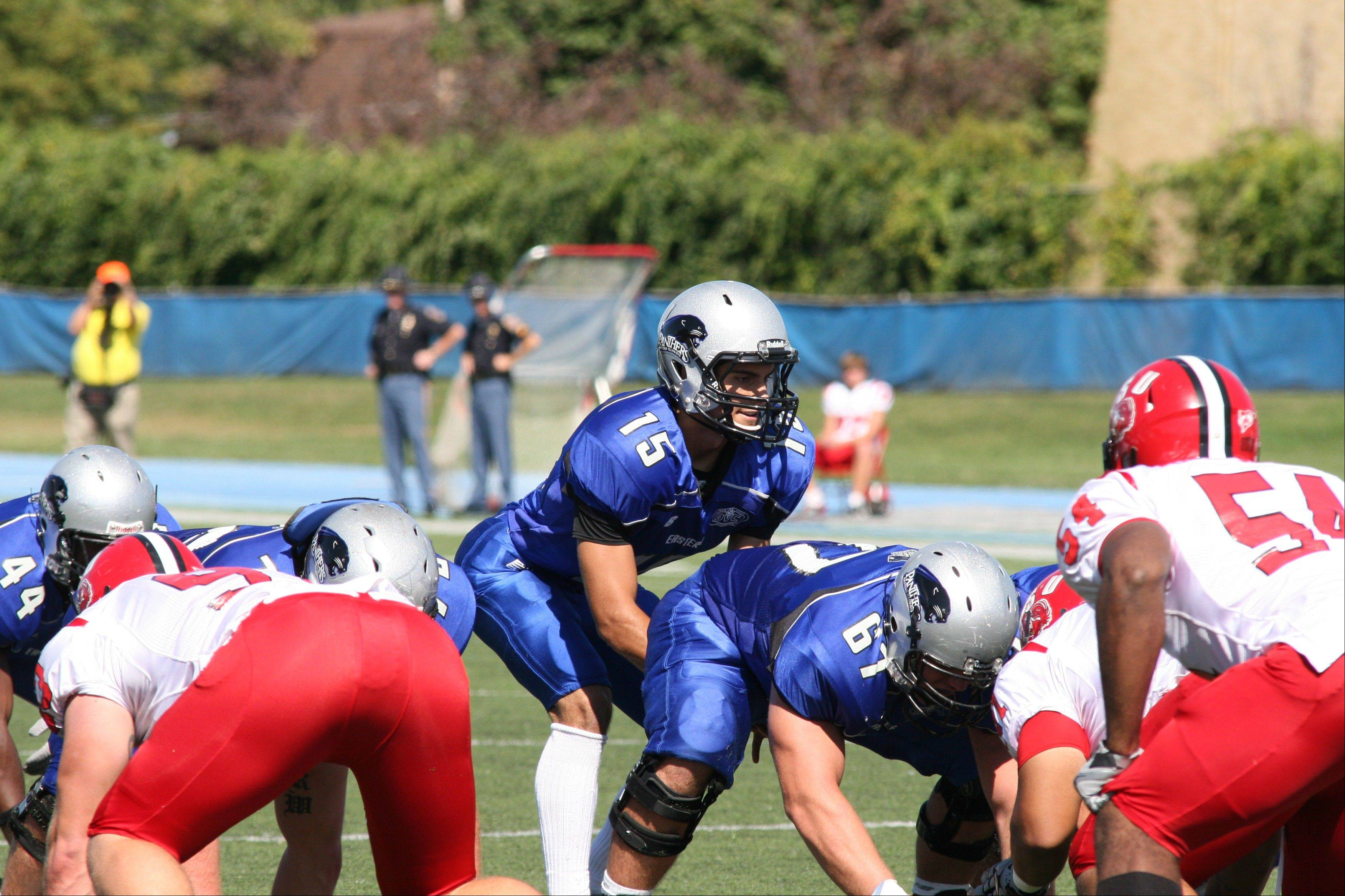 Former Rolling Meadows quarterback Jimmy Garoppolo led the Eastern Illinois Panthers to a thrilling come-from-behind win over Illinois State last weekend. Garoppolo completed 25 of 34 passes for 304 yards and 3 TDs in the 33-26 victory. Northwestern hosts EIU on Saturday.