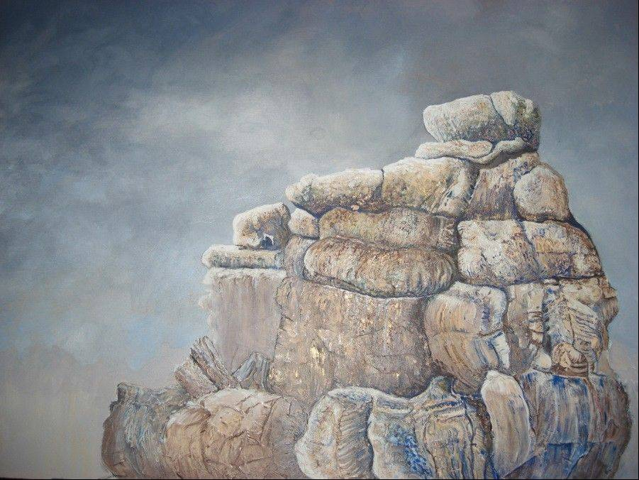"""The Rock"" by Arlington Heights artist Tobi Abrams is in a juried show in Michigan."