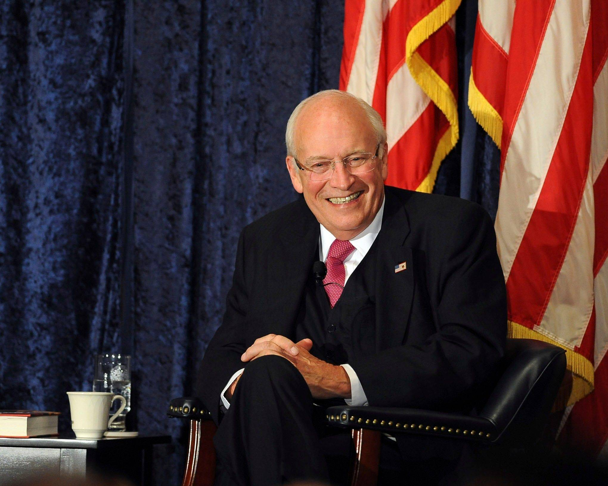 Former Vice President Dick Cheney gives a lecture at the Richard Nixon Library in Yorba Linda on Wednesday night.