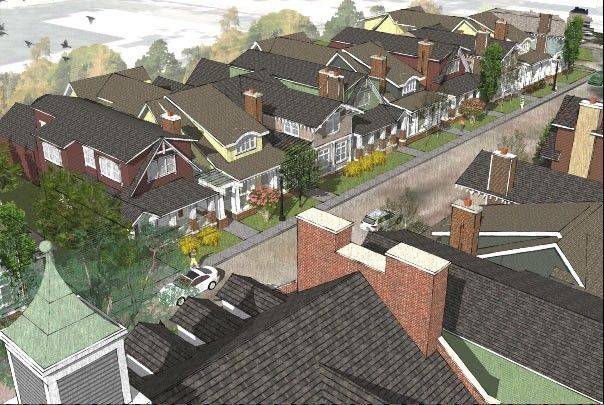 "SchholStreet Homes is developing a ""walkable"" neighborhood near Libertyville's downtown."