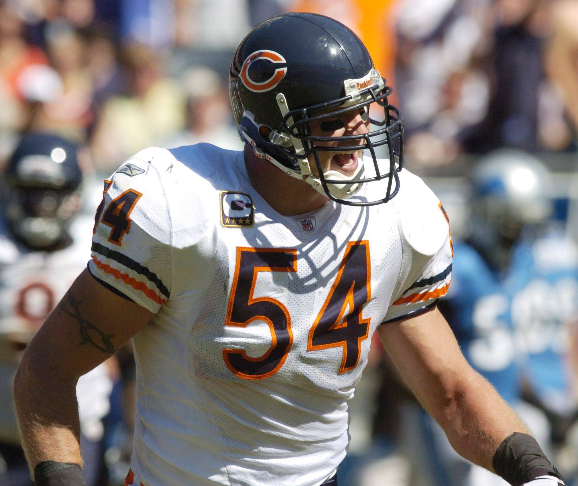 Bears linebacker Brian Urlacher, 33, says the defense is still playing at a high level despite relying heavily on six 30-somethings.