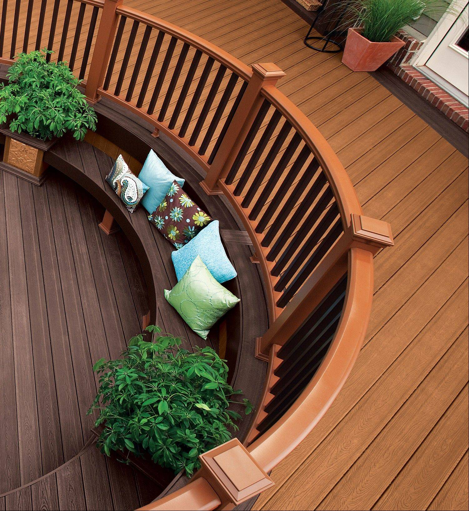 Wood decks are rapidly being replaced by plastic, aluminum and other man-made decking materials, which are prized for their easy maintenance.