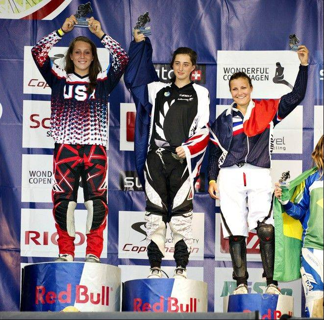 Grayslake North High School junior Felicia Stancil won the 2011 BMX World Championships in Copenhagen, Denmark, and earned a spot in the USA Cycling Elite BMX Program.