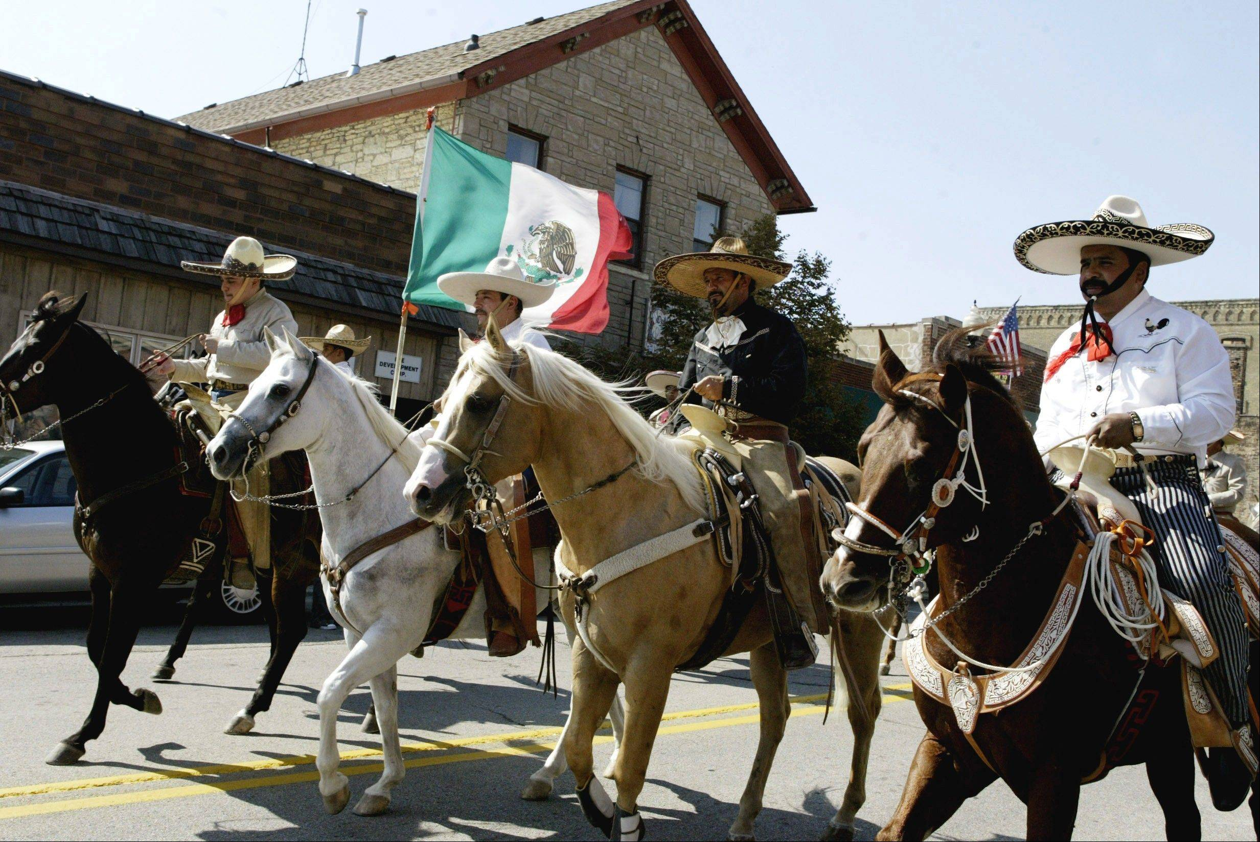 Horses are a highlight of the Mexican Independence Day parade in downtown West Chicago starting at noon Sunday, Sept. 18.