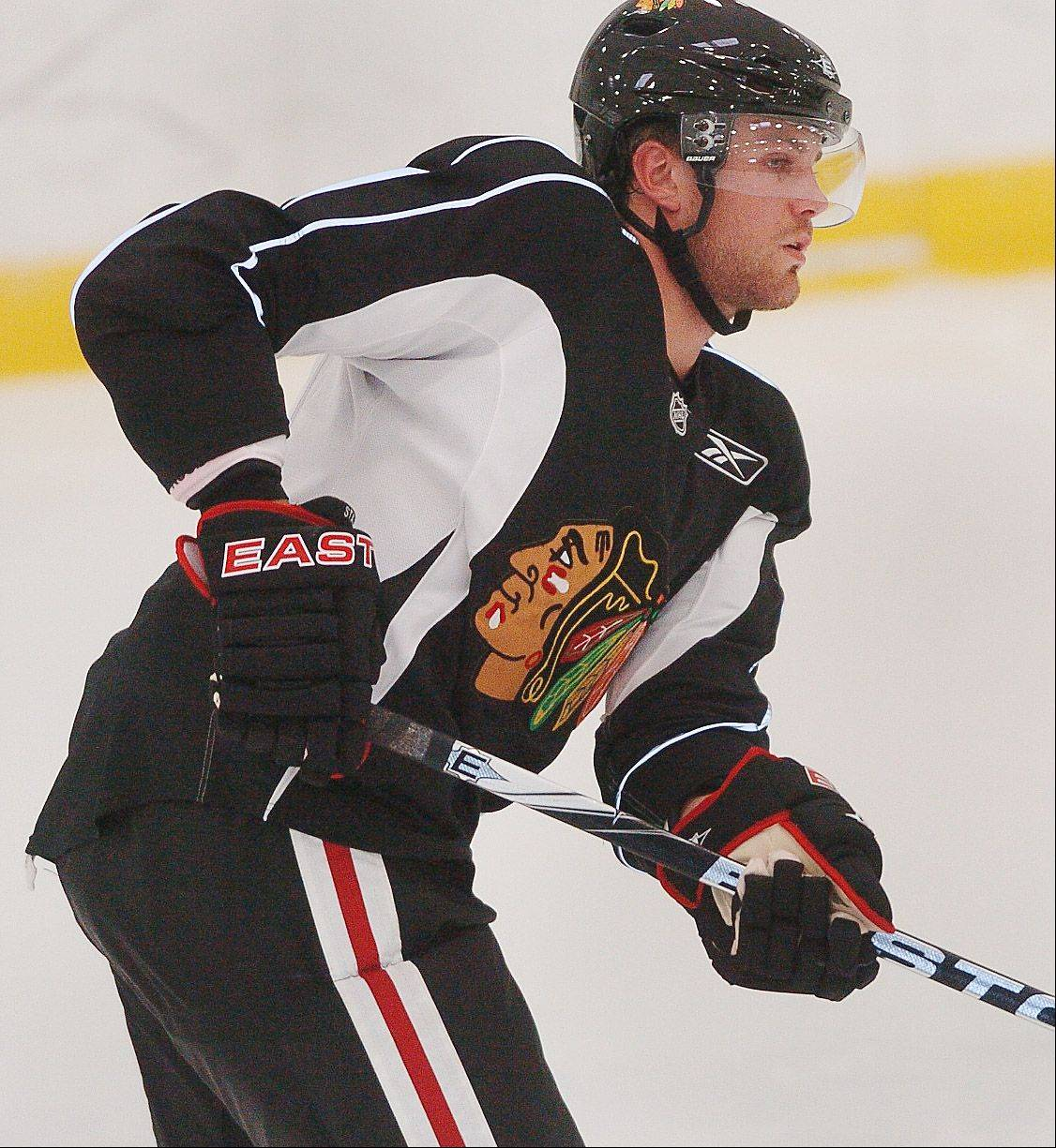 Viktor Stalberg has the speed and skill to play on the top two lines for the Blackhawks.