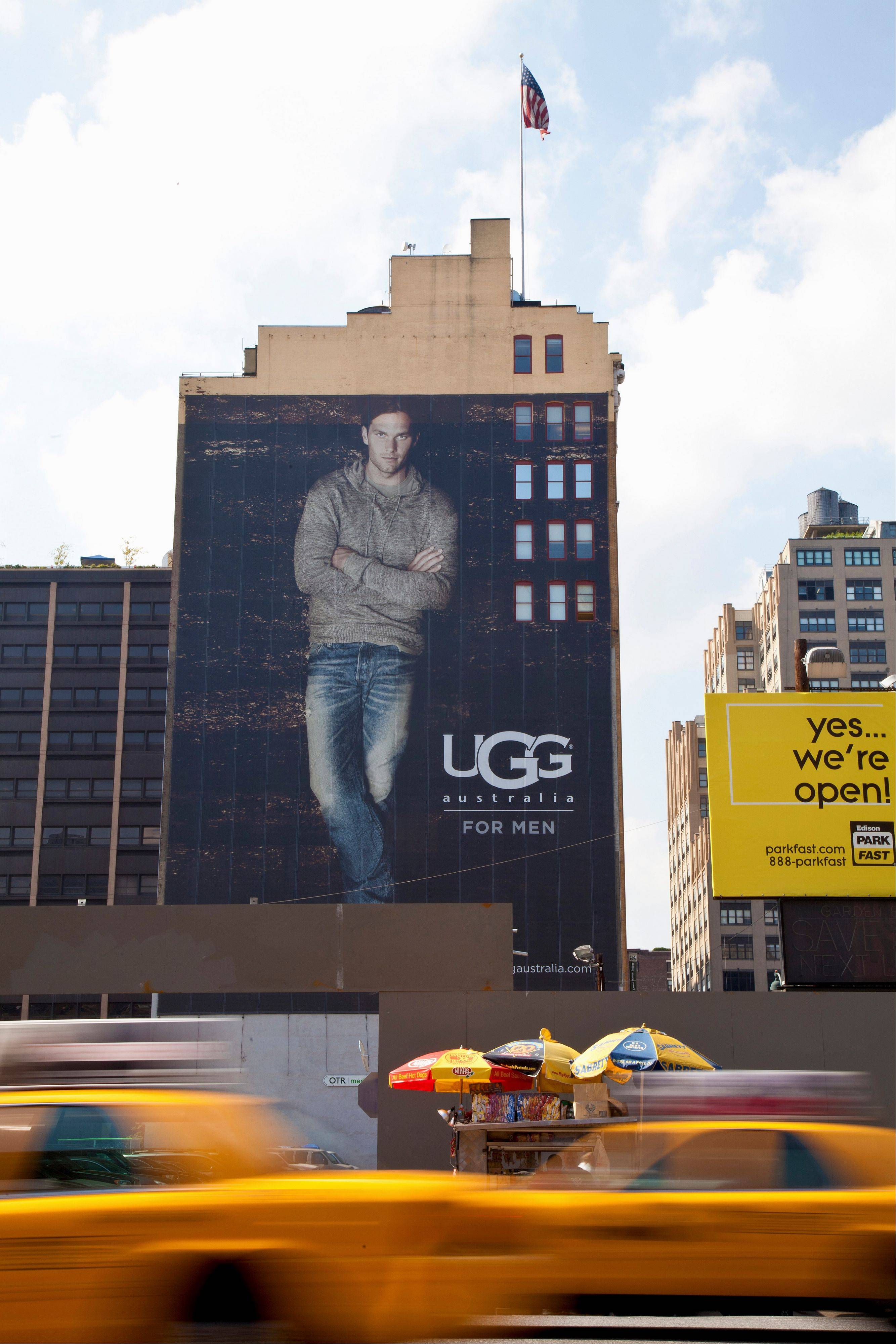 New England Patriots NFL football quarterback Tom Brady appears is the national spokesman for UGG, a shoemaker best known for women's boots.