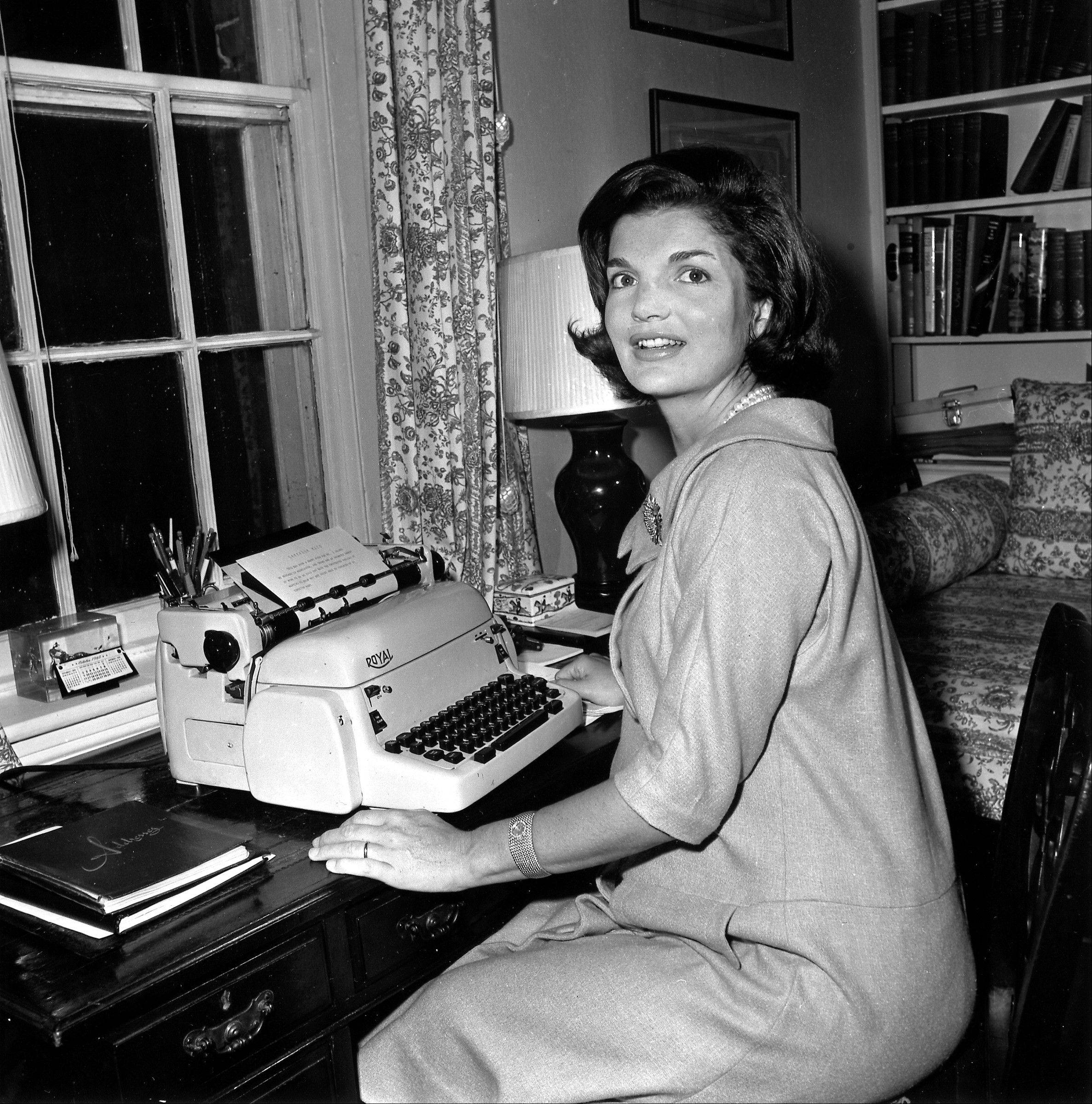 "Jacqueline Kennedy wrote her weekly ""Candidate's Wife"" column (here on Oct. 5, 1960) in her Georgetown home in Washington. According to a book of newly released interviews with the former first lady, she enjoyed having her husband ""proud of her"" and saw no reason to have a policy opinion that wasn't the same as his."