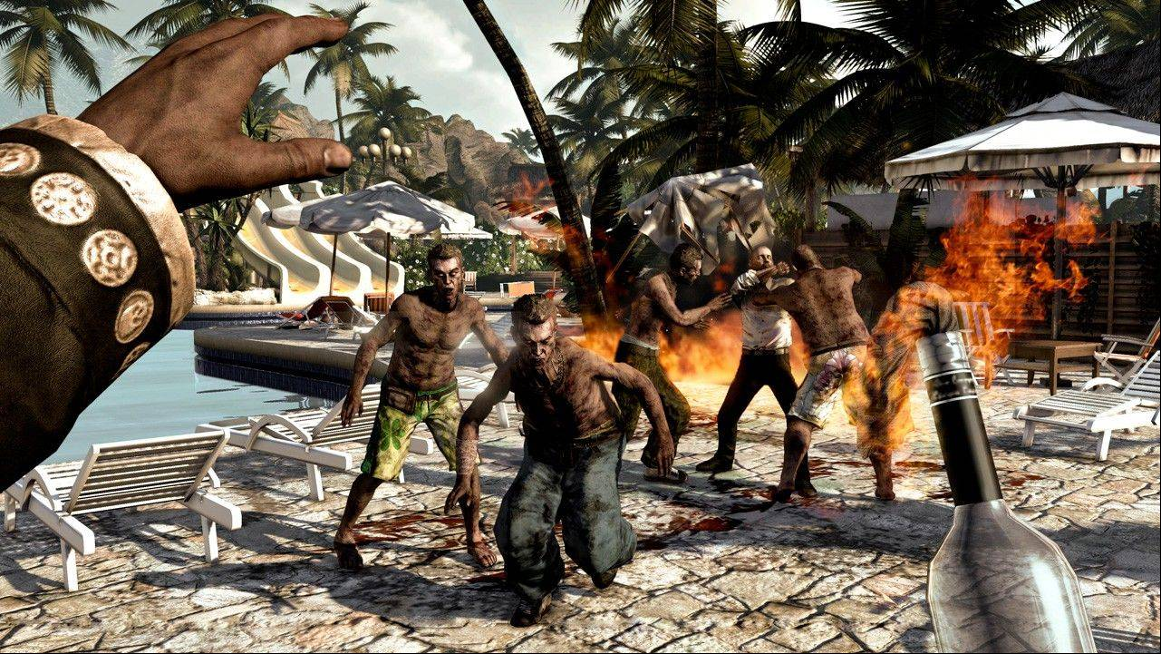 "Zombies take over a tropical resort in ""Dead Island."""