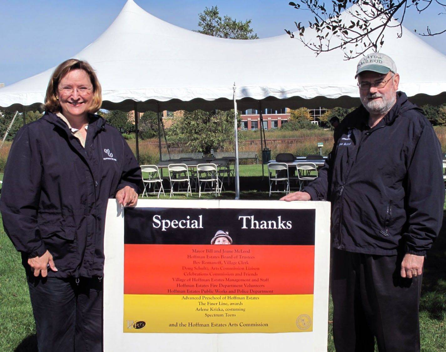 Mayor William D. McLeod, right, and his wife, Joane, at last year's Platzkonzert Germanfest. This year's event will be Saturday, Sept. 17, at the Village Green.