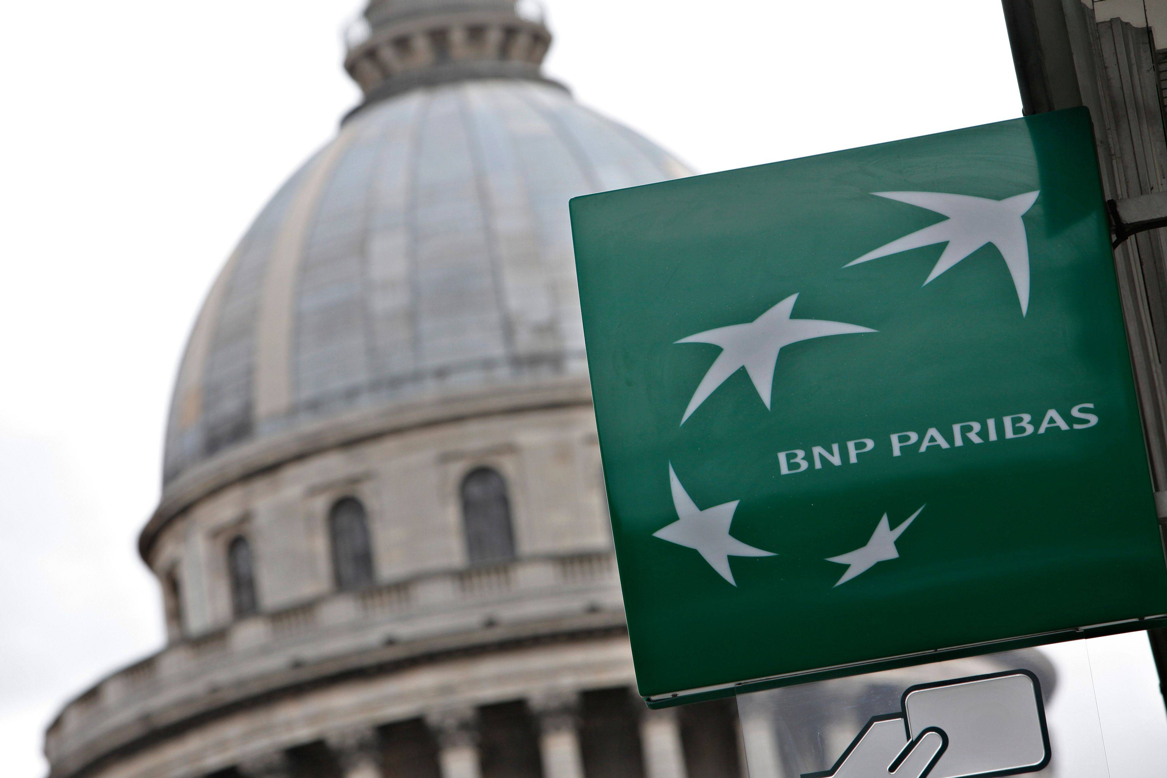 The Banque Nationale de Paris (BNP) is seen in Paris on Tuesday. French banks have been at the center of the European crisis because they hold a significant amount of debt from Greece.