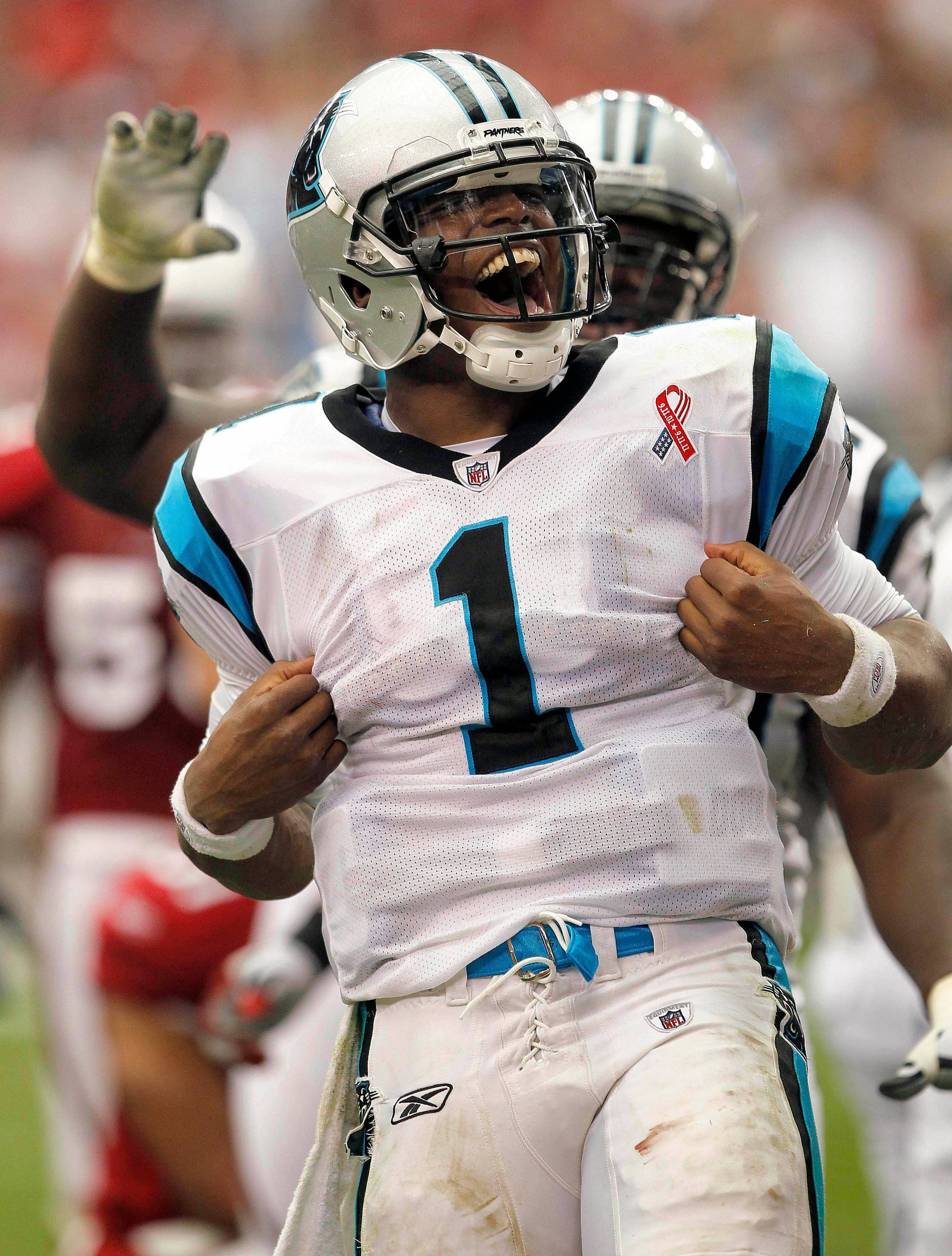 Carolina Panthers quarterback Cam Newton was one of several rookies who were impressive during week 1 of the NFL season.