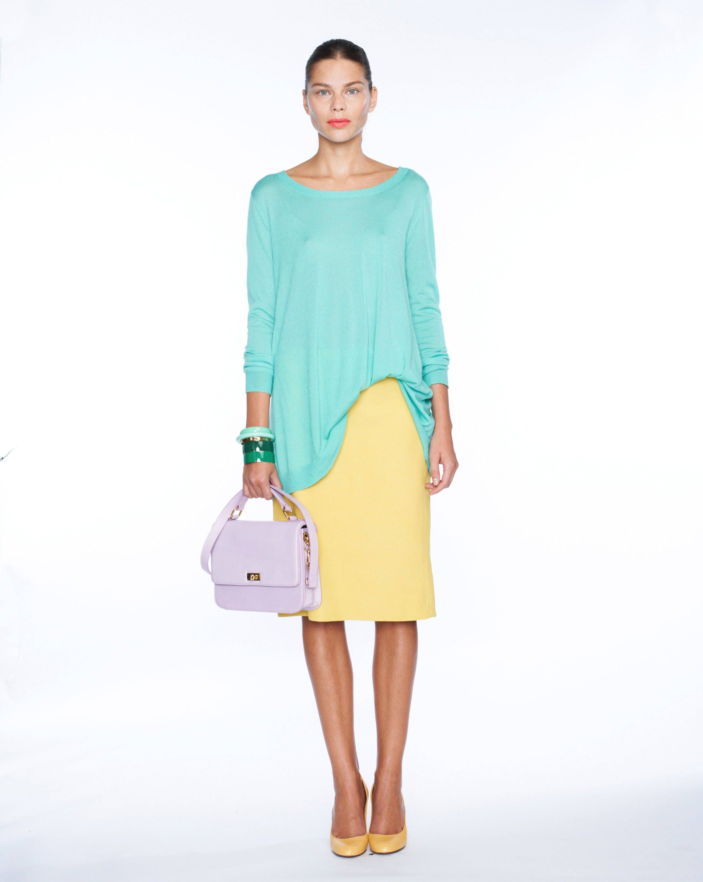 This undated photo courtesy of JCrew shows a look from the JCrew Spring 2012 line presented during Fashion Week in New York.