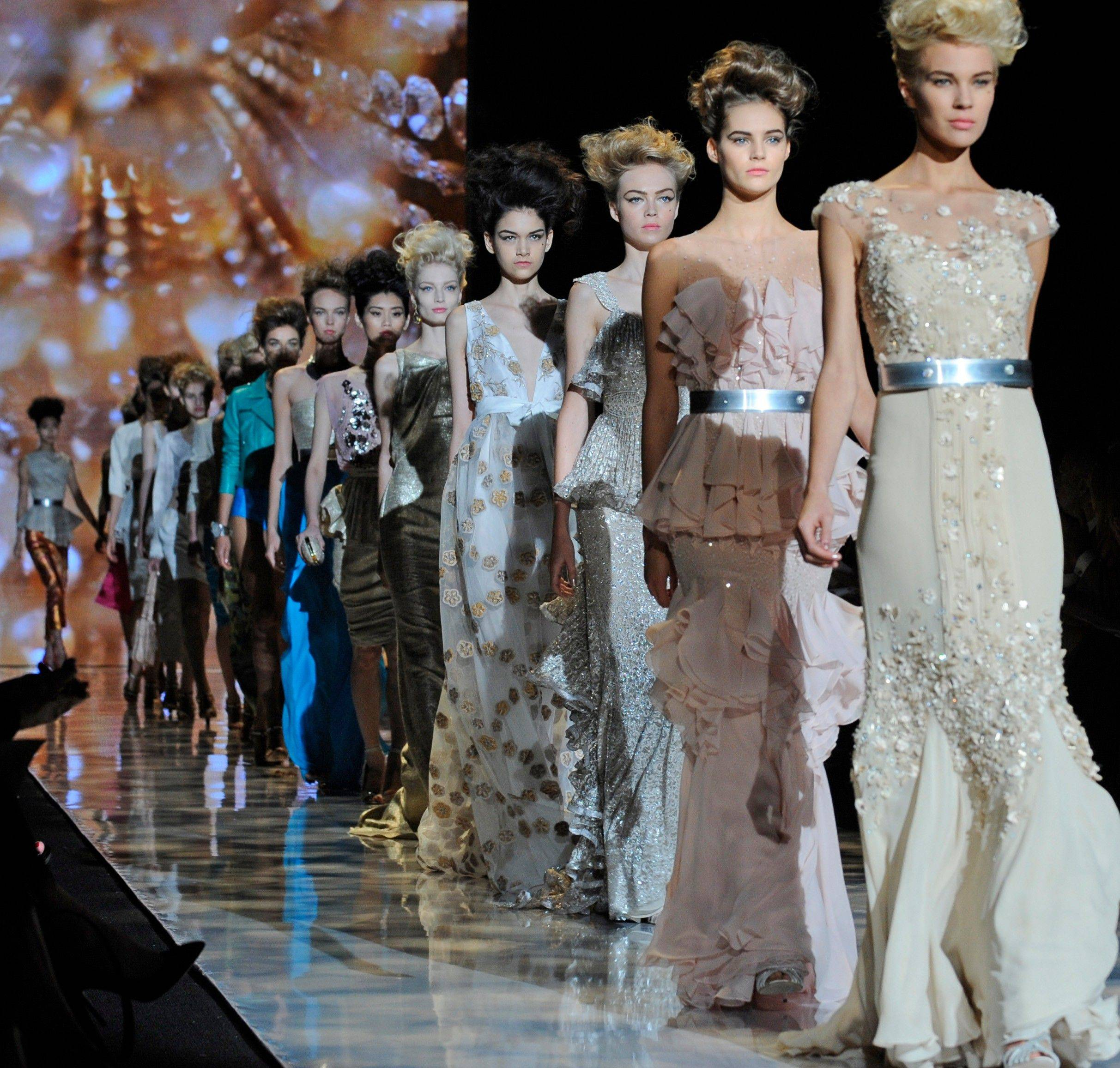 The Badgley Mischka Spring 2012 collection is modeled during Fashion Week, Tuesday, Sept. 13, 2011, in New York.